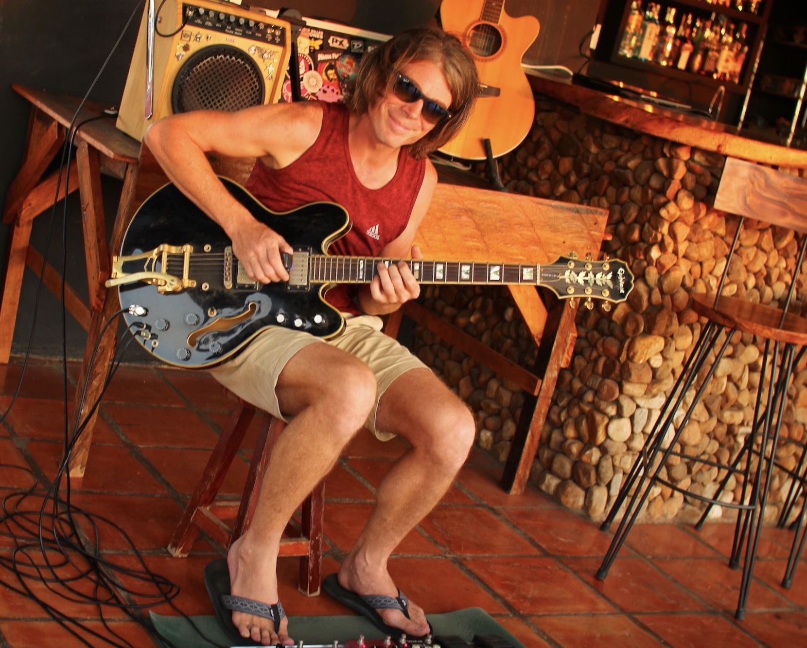 Simon Upstone musician Kampot Cambodia