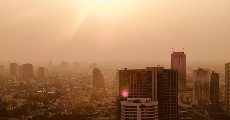Sunset over Bangkok.
