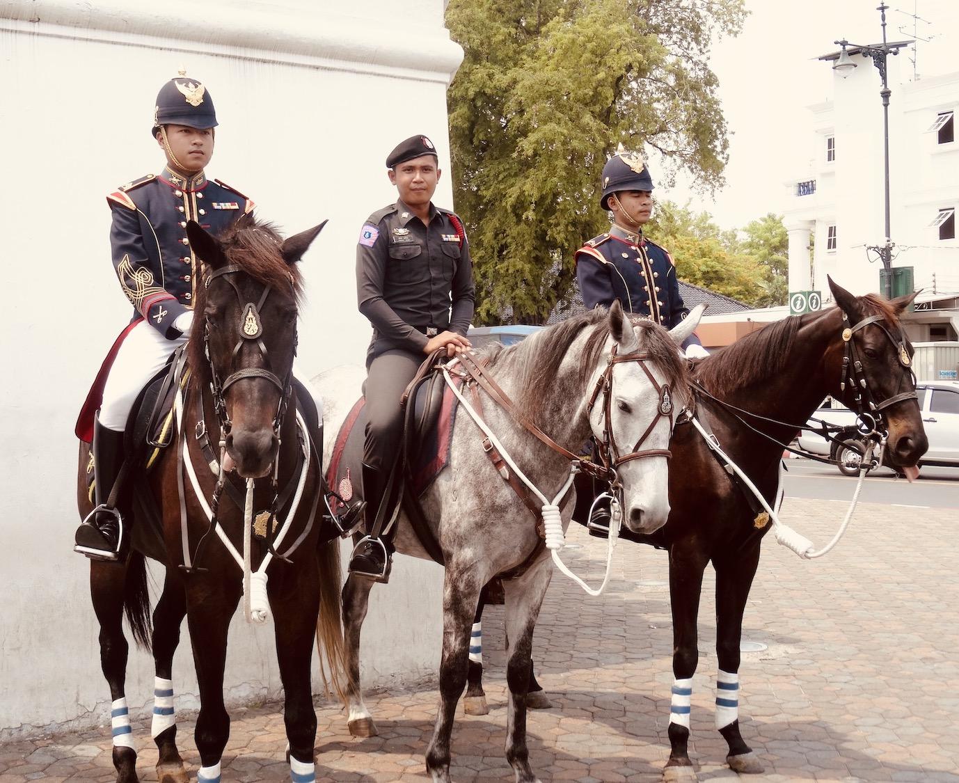 Thai soldiers on horseback