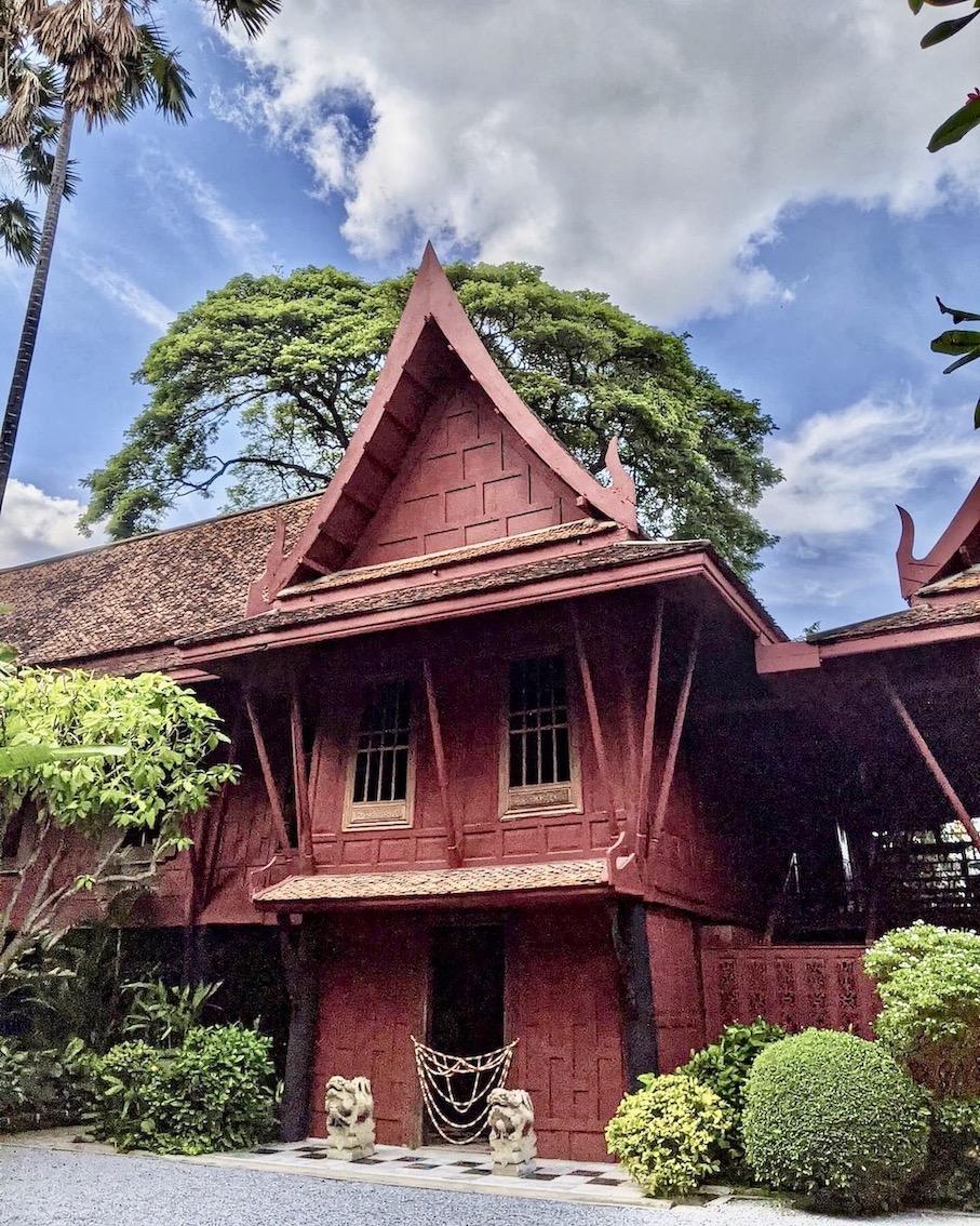 Traditional wooden Thai building Bangkok