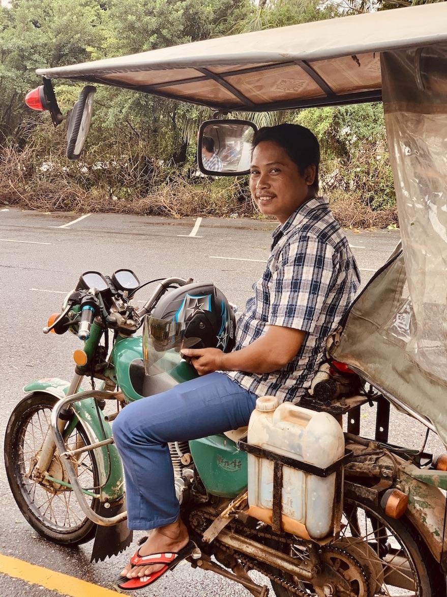 Tuk tuk driver Kep Cambodia.
