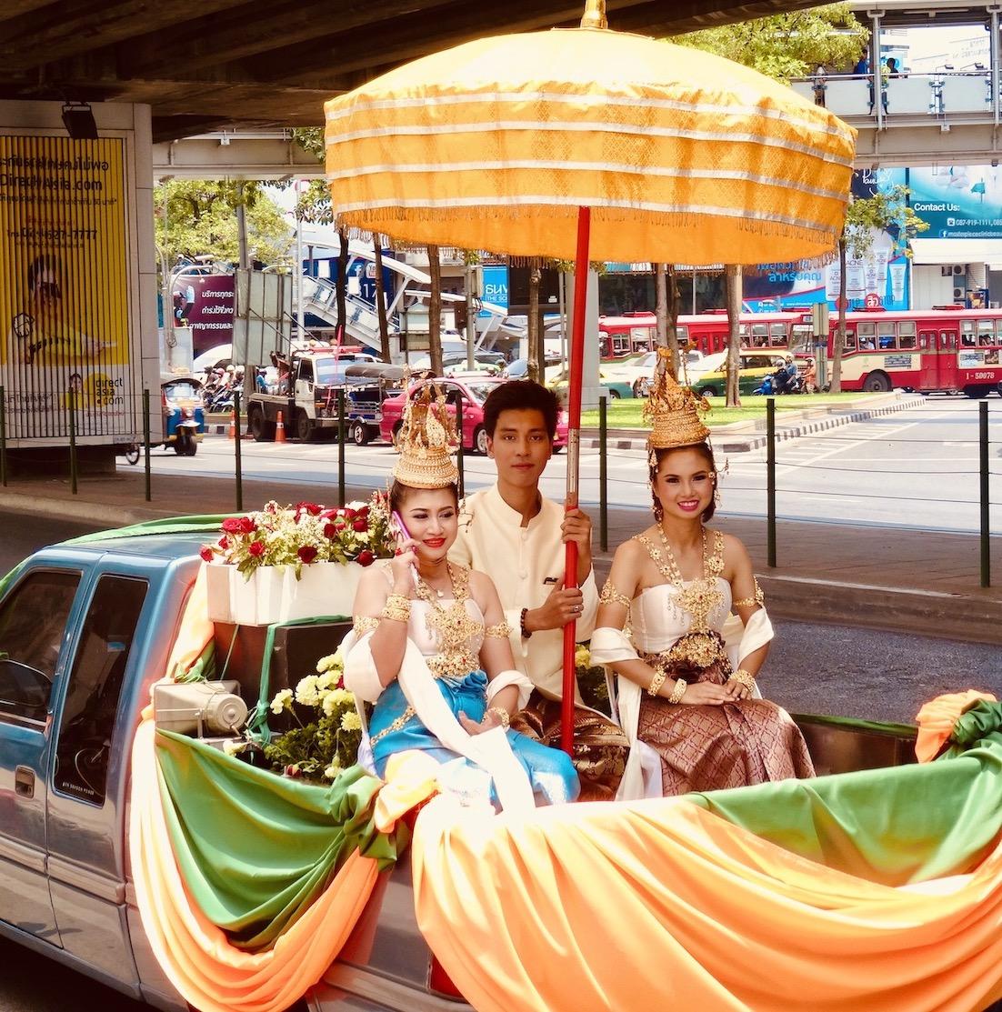 Wedding float Bangkok.