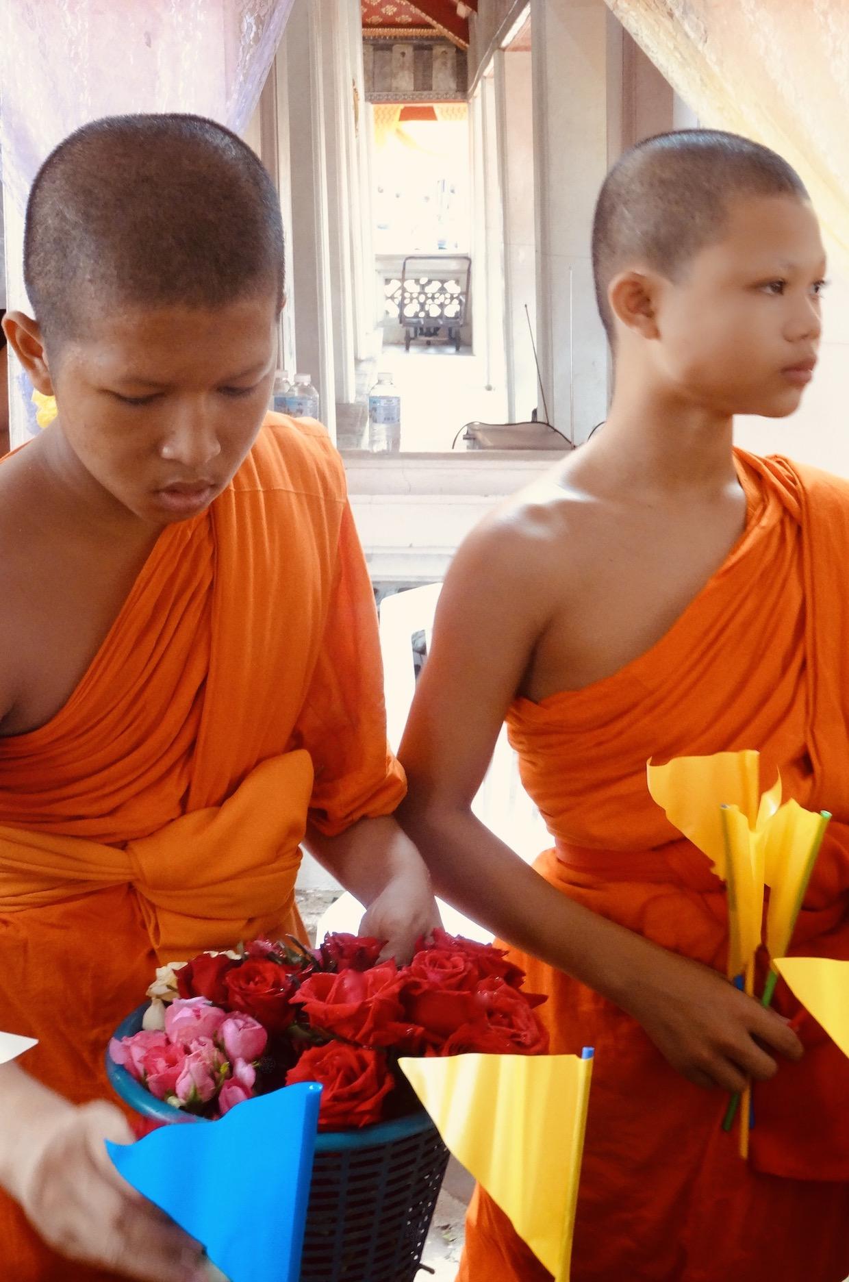Young monks Wat Pho Bangkok.
