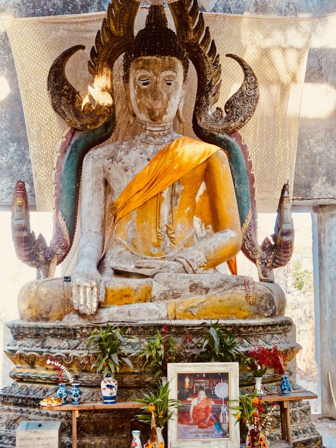Abandoned tample Sangkhlaburi Thailand