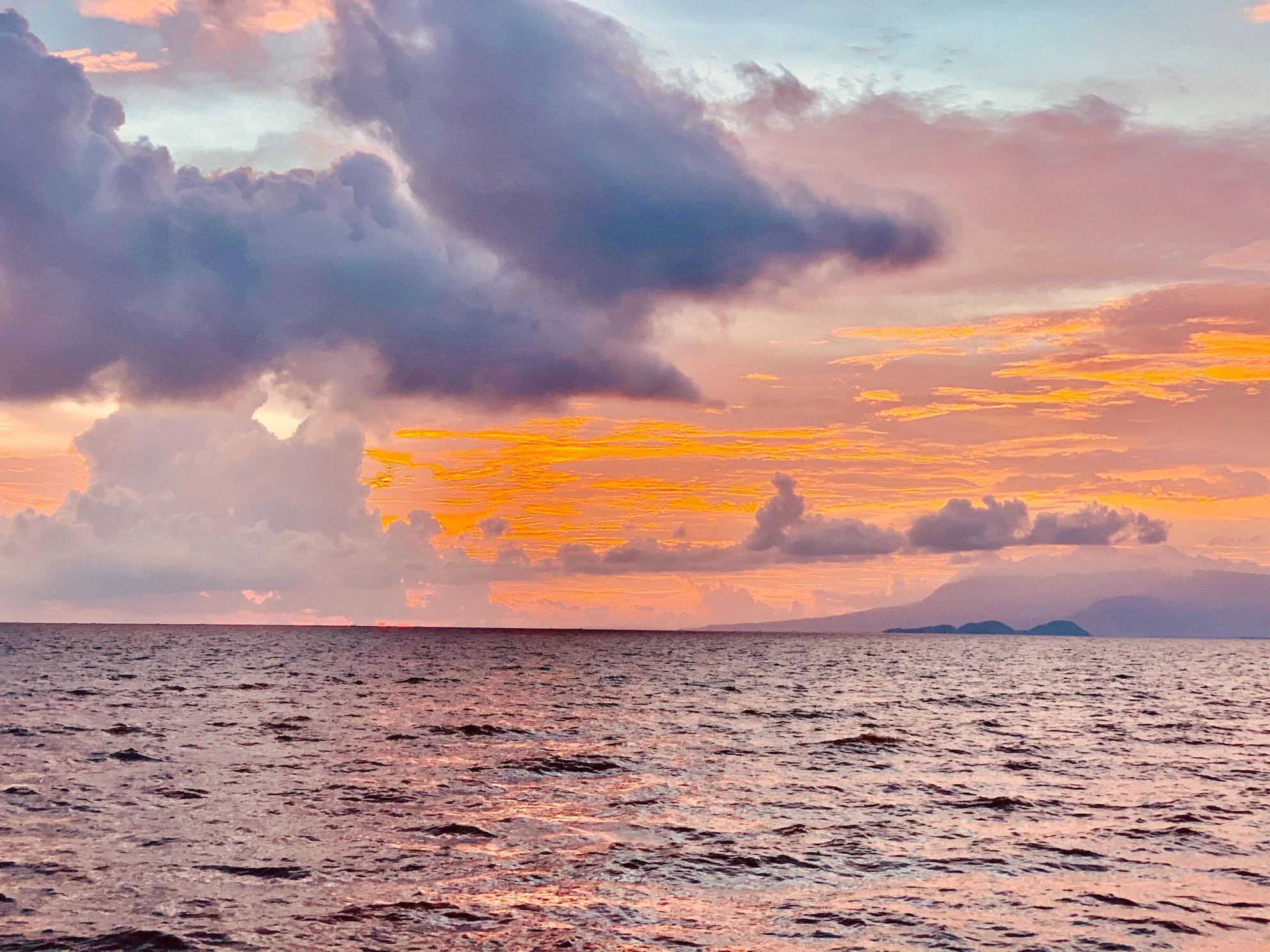 Amazing sunset Kep Cambodia.