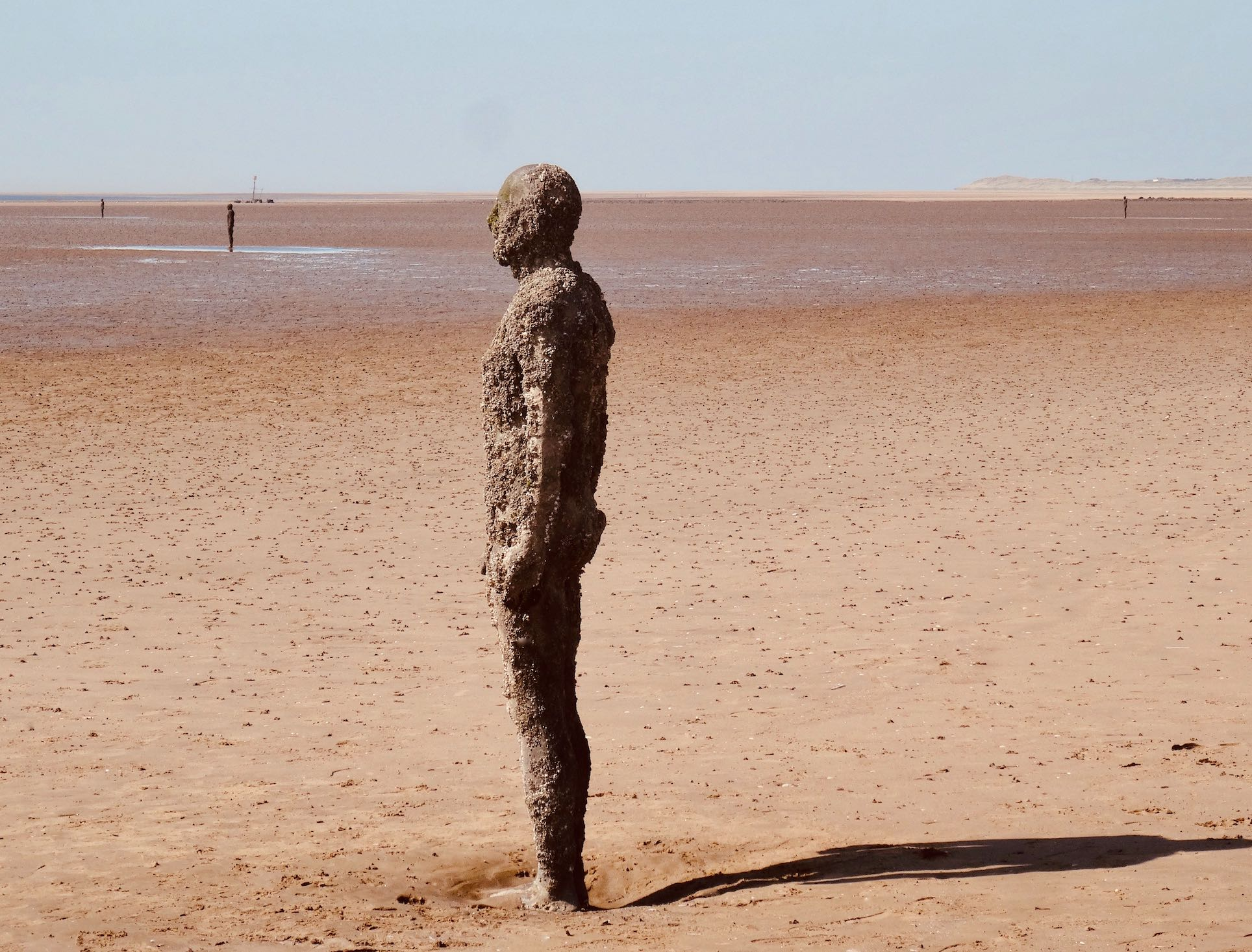 Antony Gormley Statues in the Sand