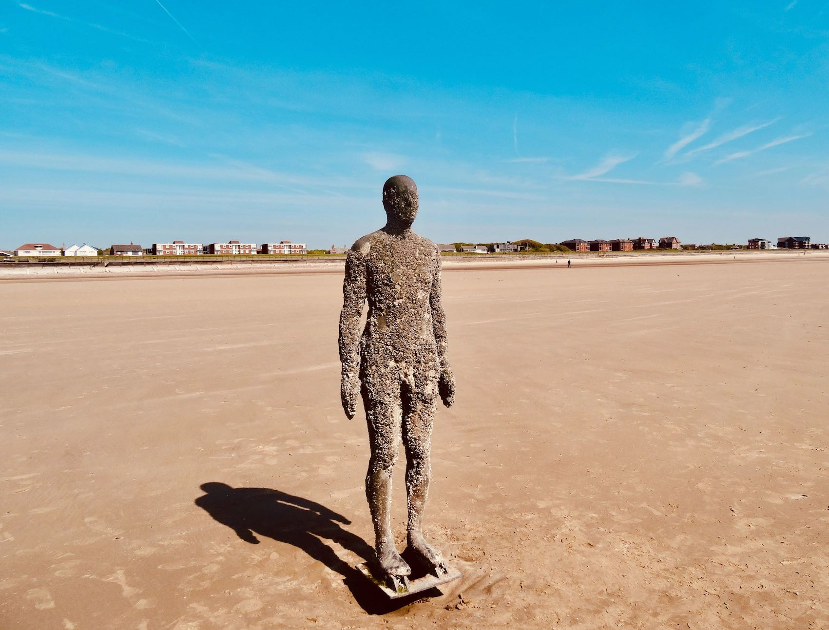 Beautiful Crosby Beach in Liverpool