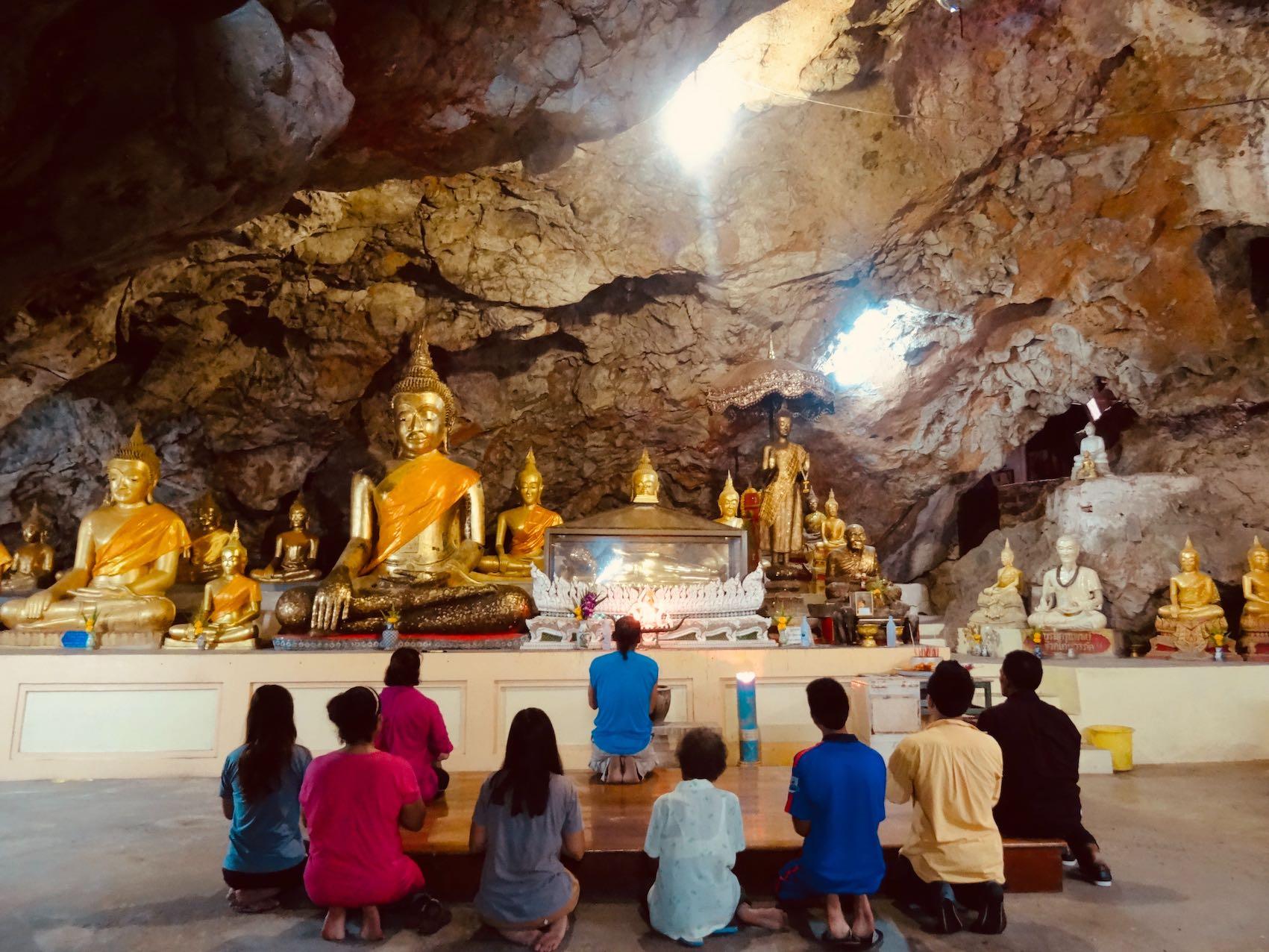 Buddhist cave shrine Phetchaburi Thailand