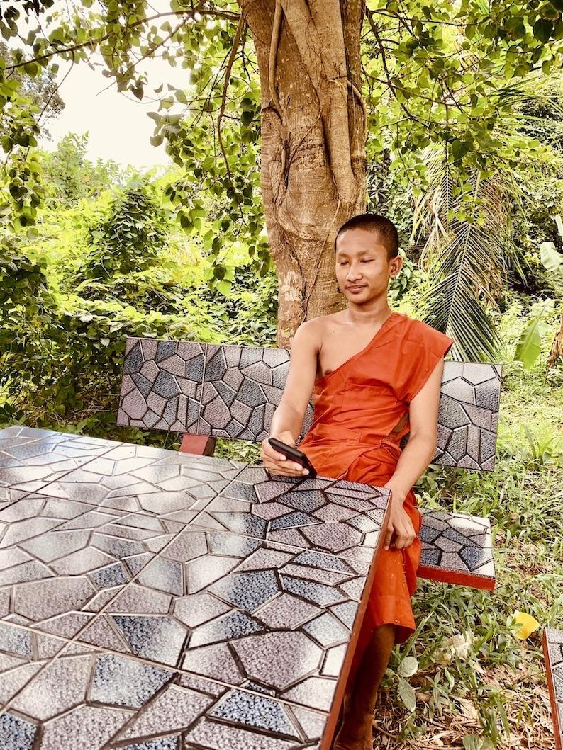 Buddhist monk Kep Cambodia.