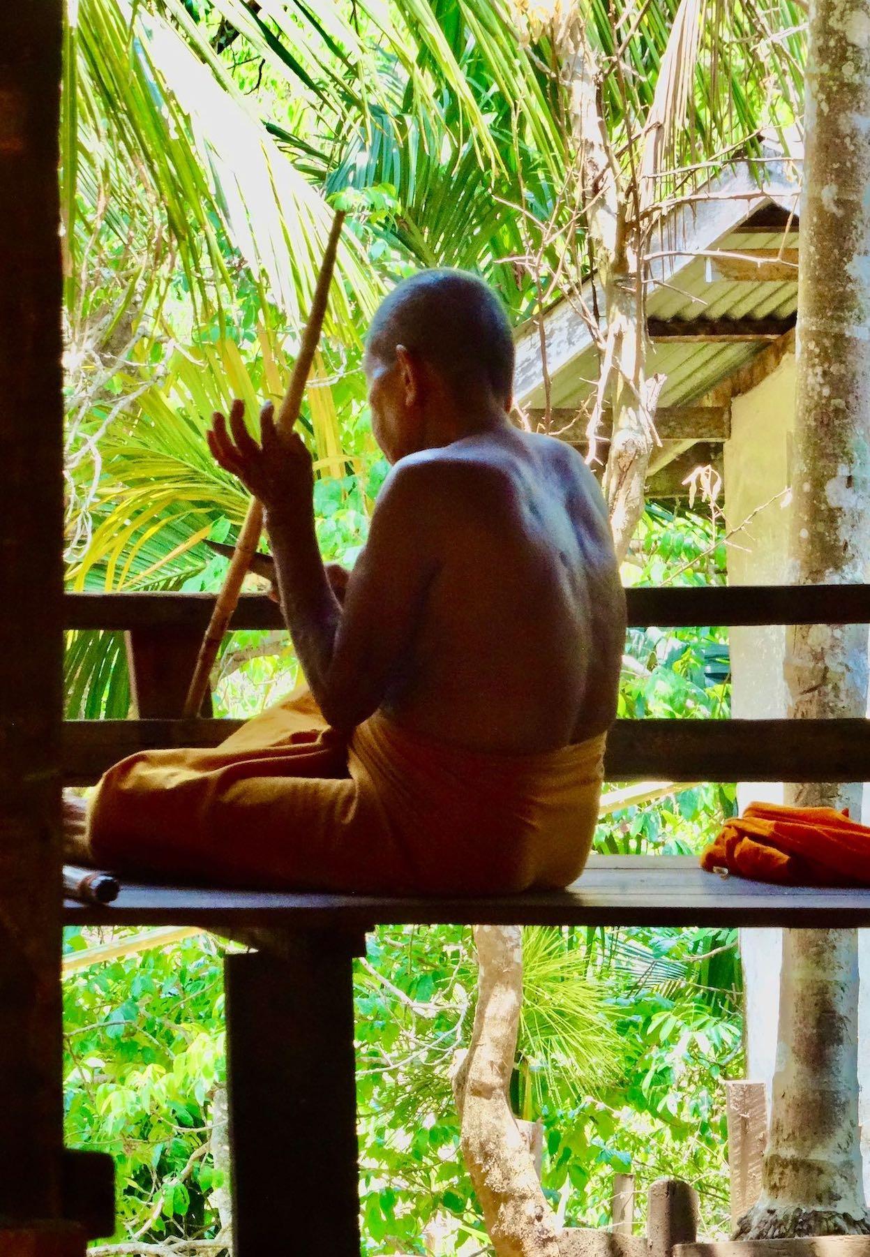Buddhist monk Sangkhlaburi Thailand
