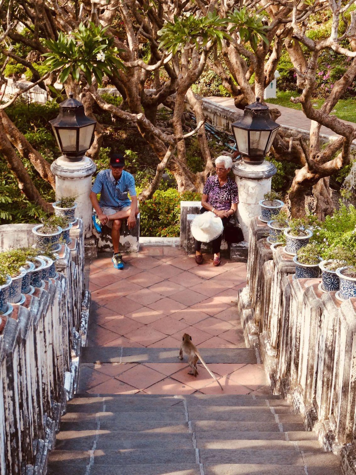 Climbing Phra Nakhon Khiri Historical Park.