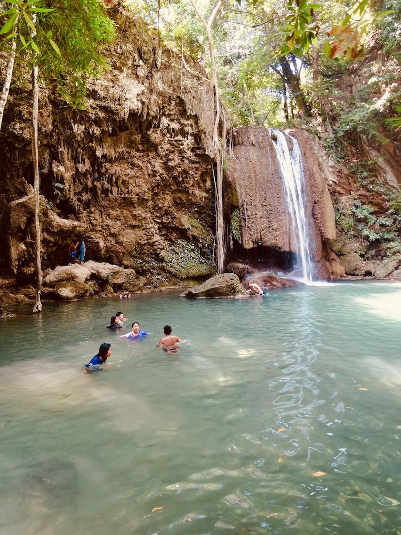 Erawan Falls Kanchanaburi Thailand.
