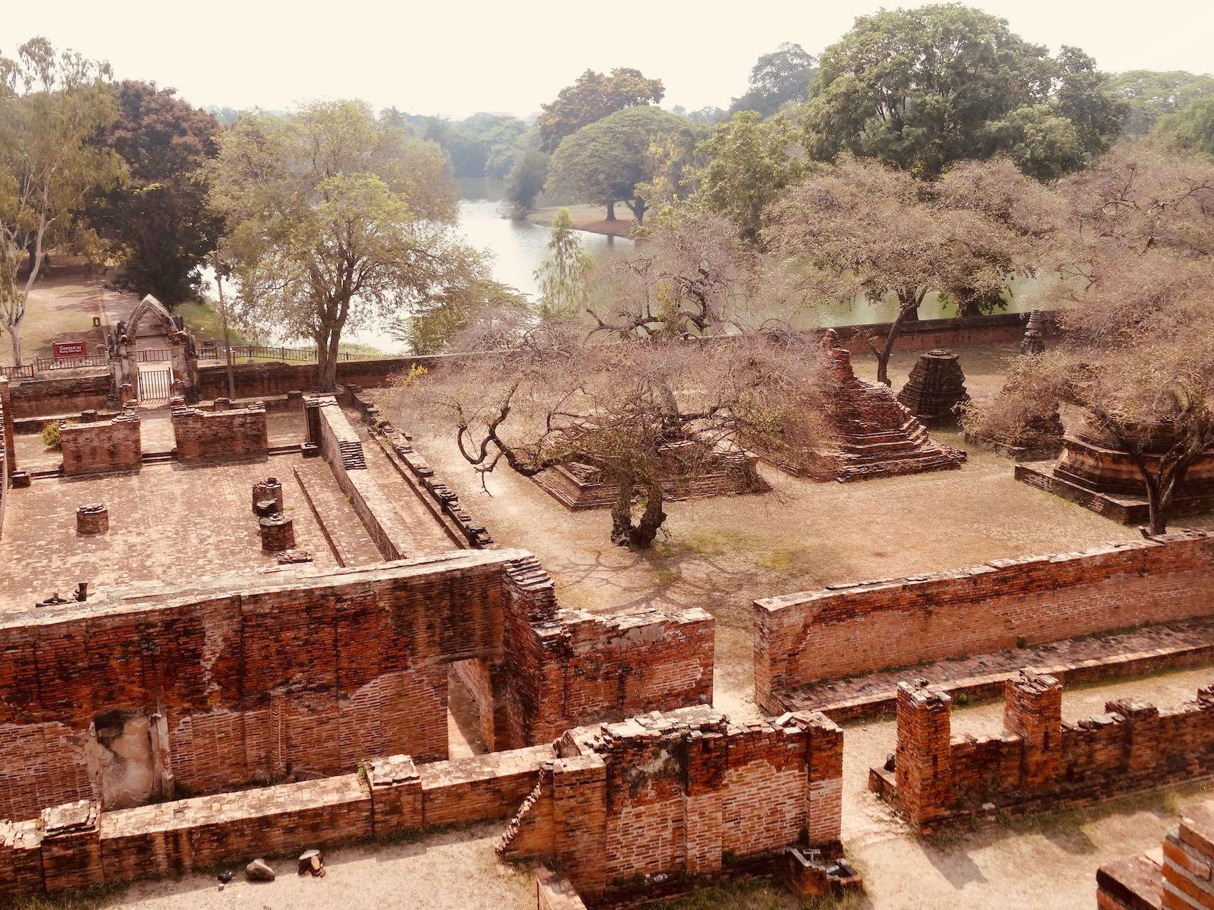 Exploring Ayutthaya Historical Park.