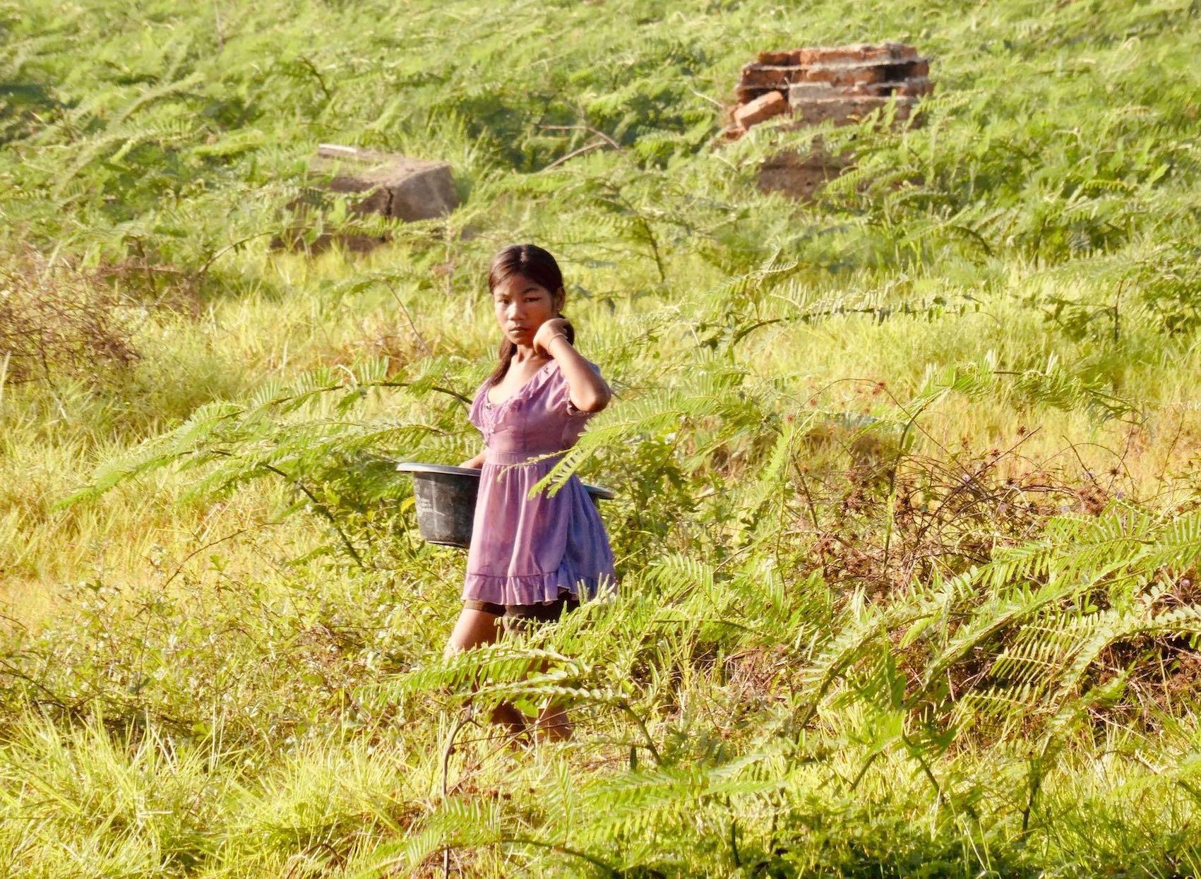 Farmer girl Sangkhlaburi Thailand.