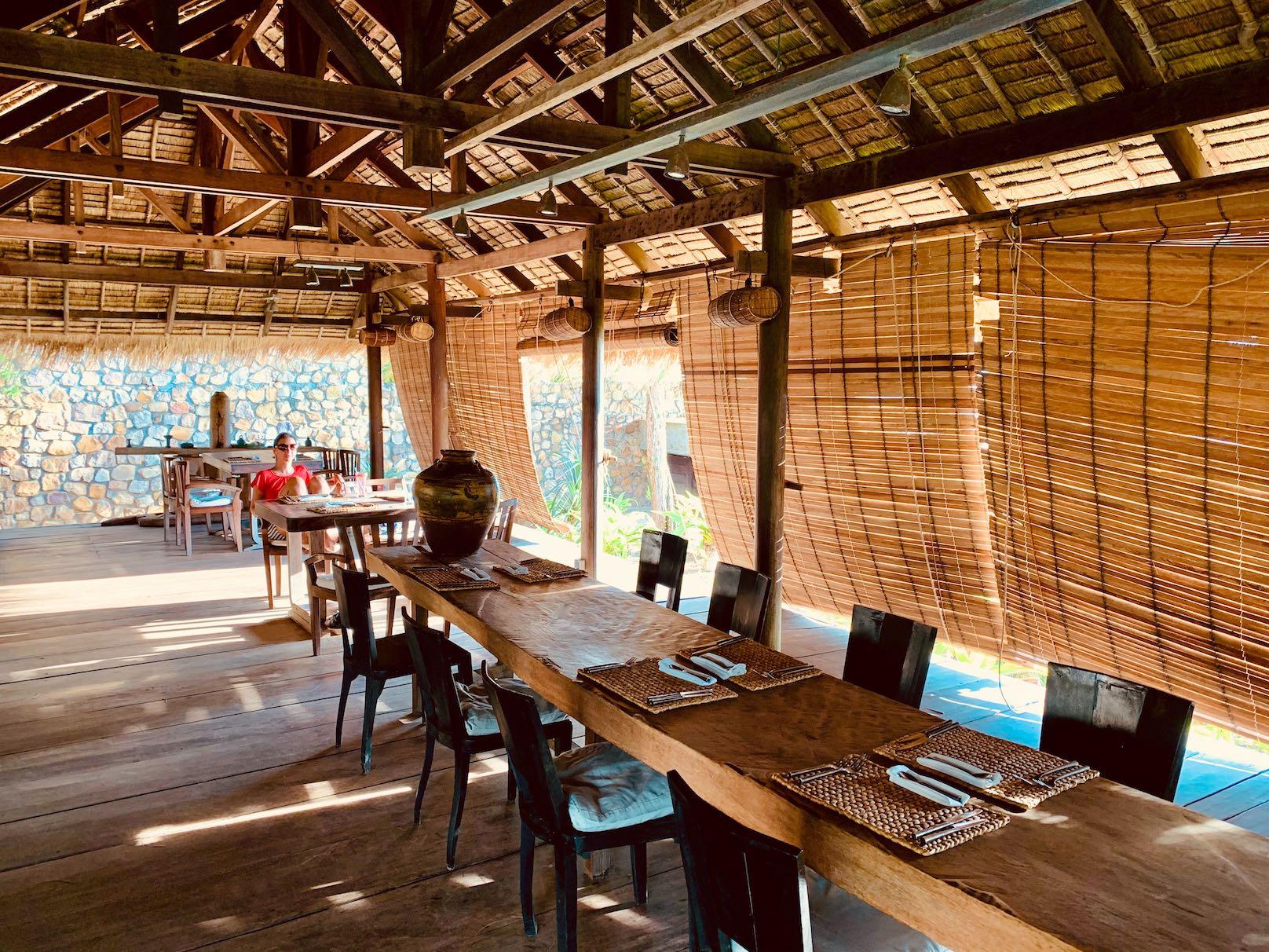 Inside The Strand Restaurant Kep Cambodia