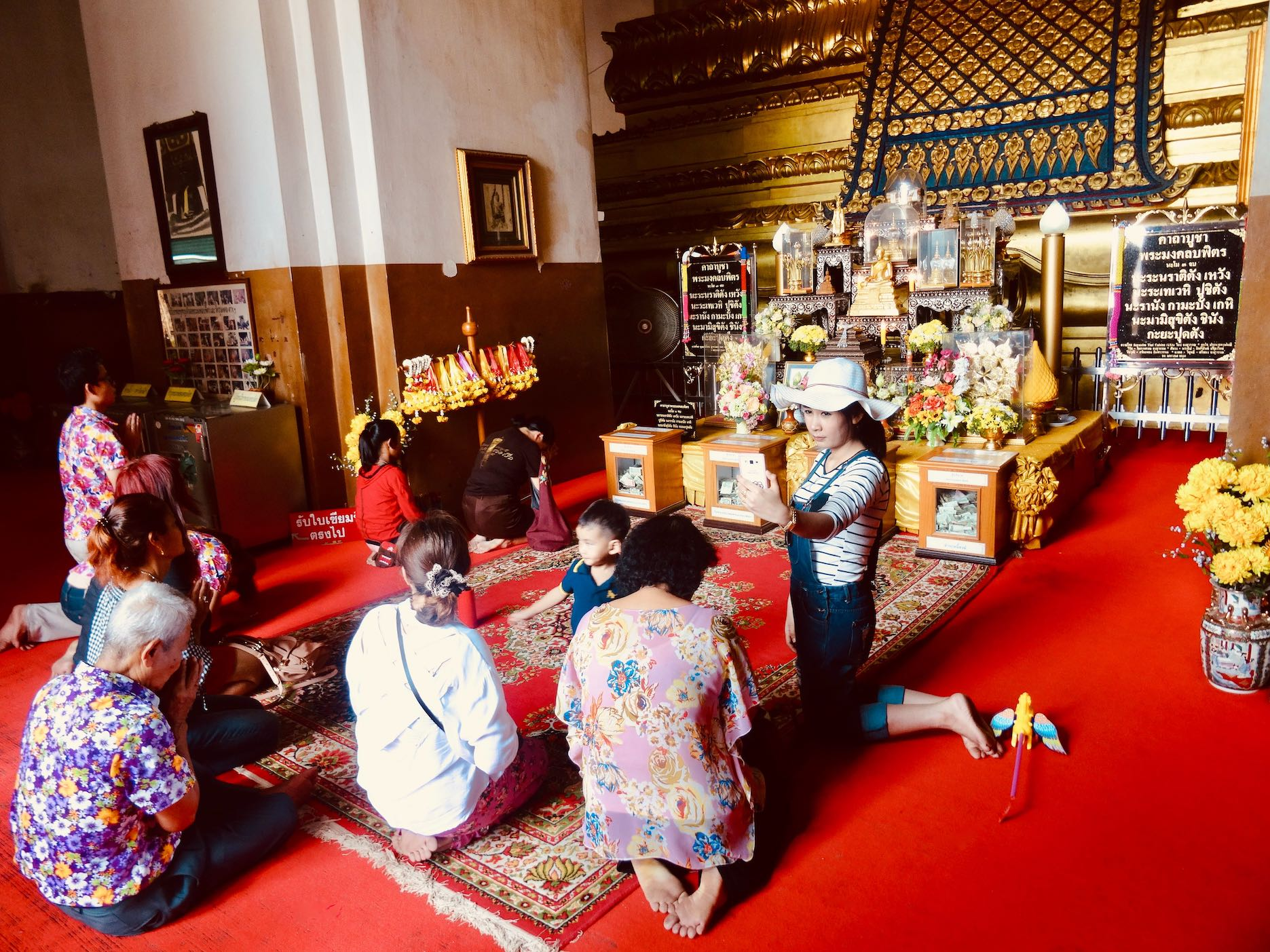 Inside Wihan Phra Mongkhon Bophit.