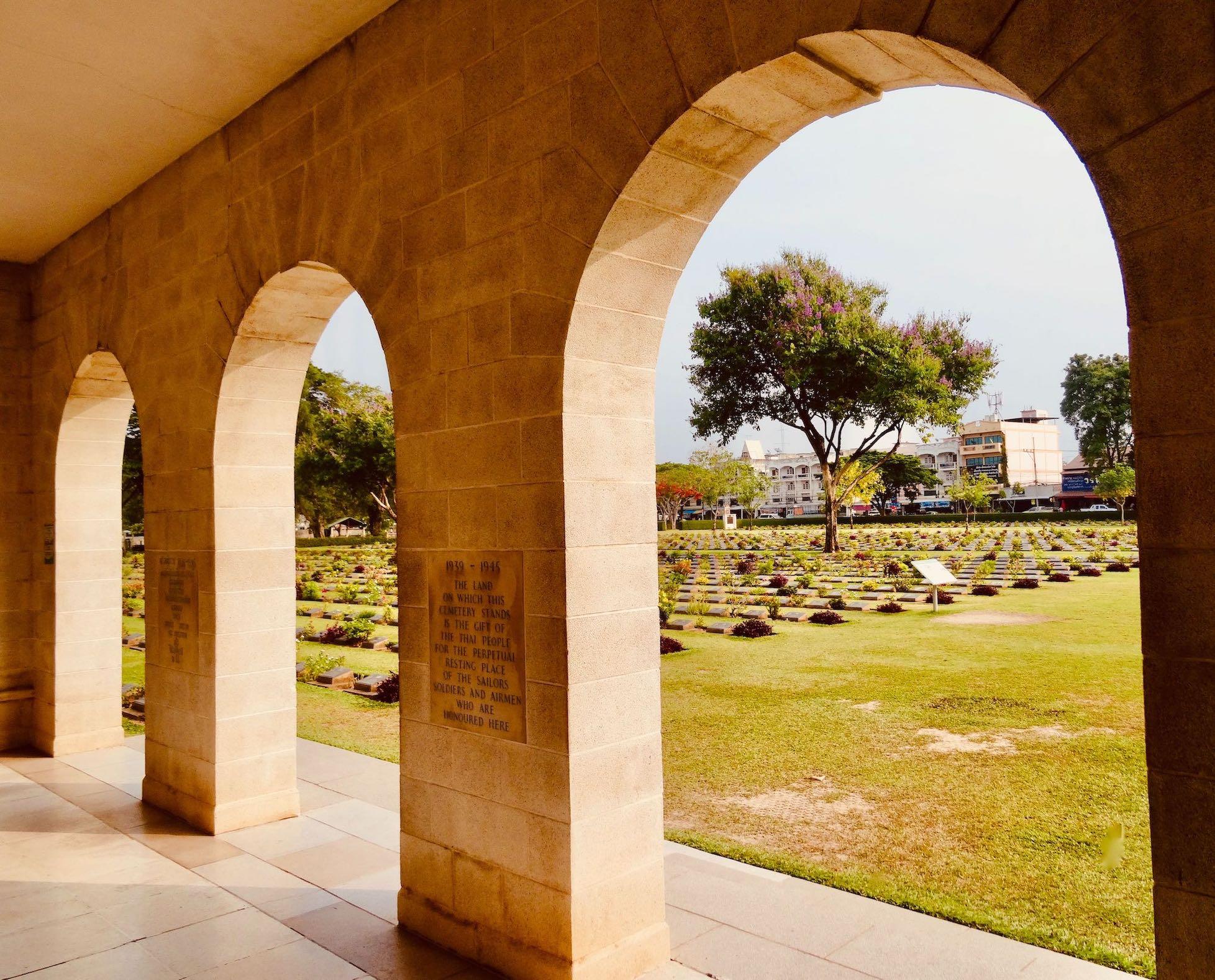 Kanchanaburi War Cemetery.