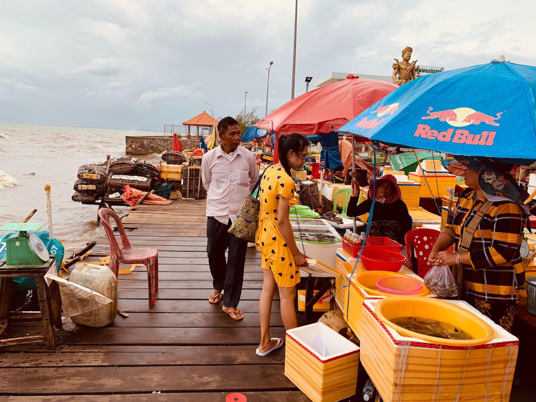 Kep Crab Market Cambodia.