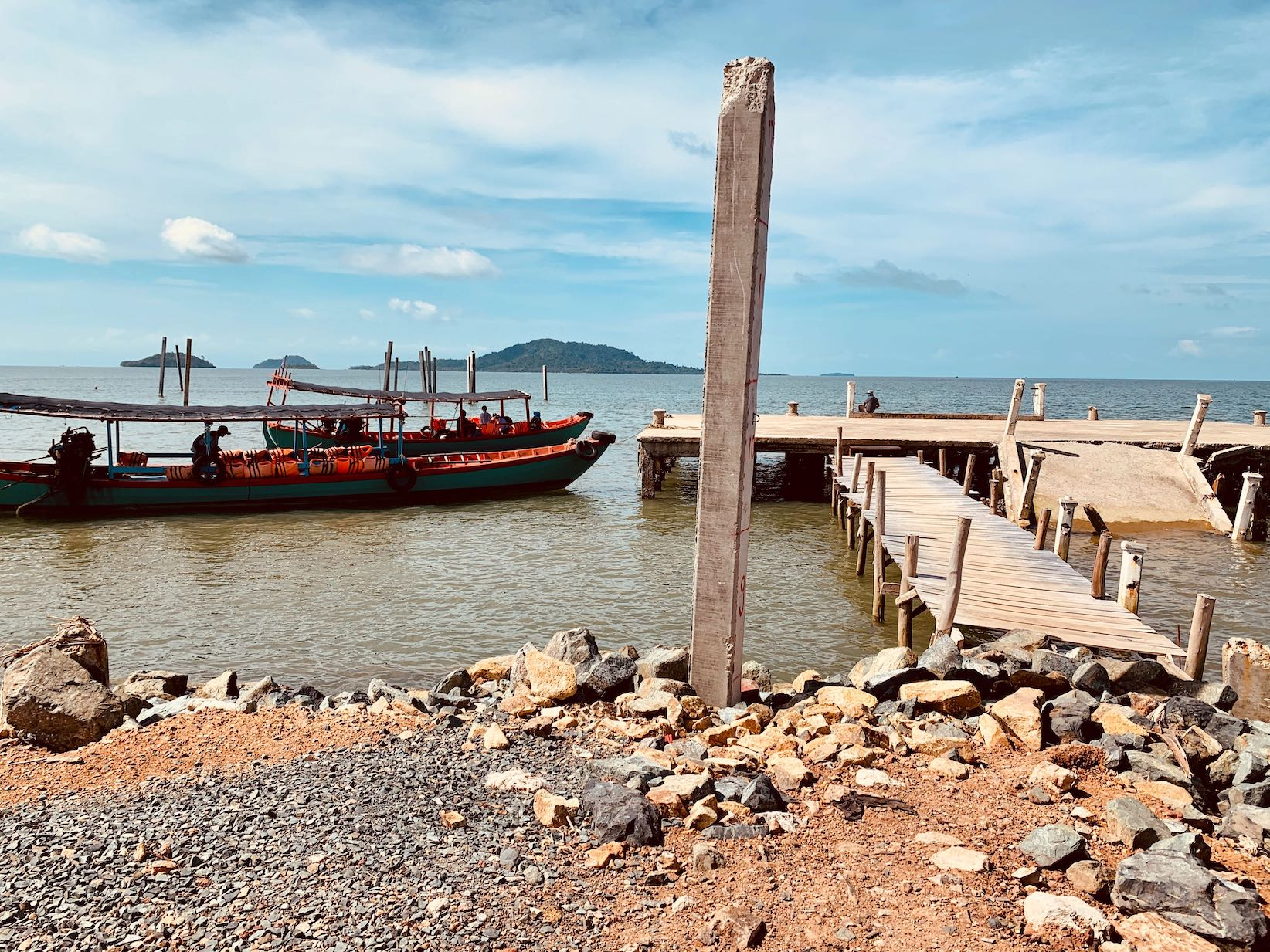 Kep Pier Cambodia.
