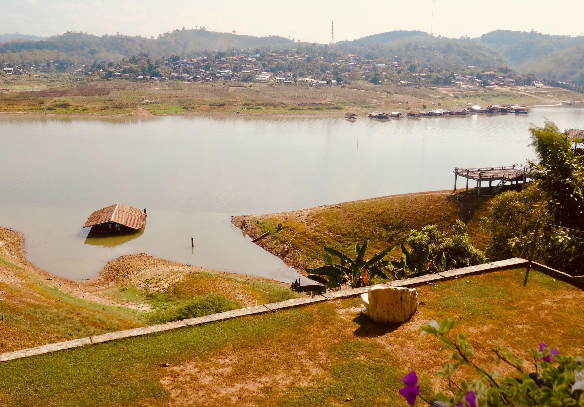 Khao Laem Reservoir in Sangkhlaburi