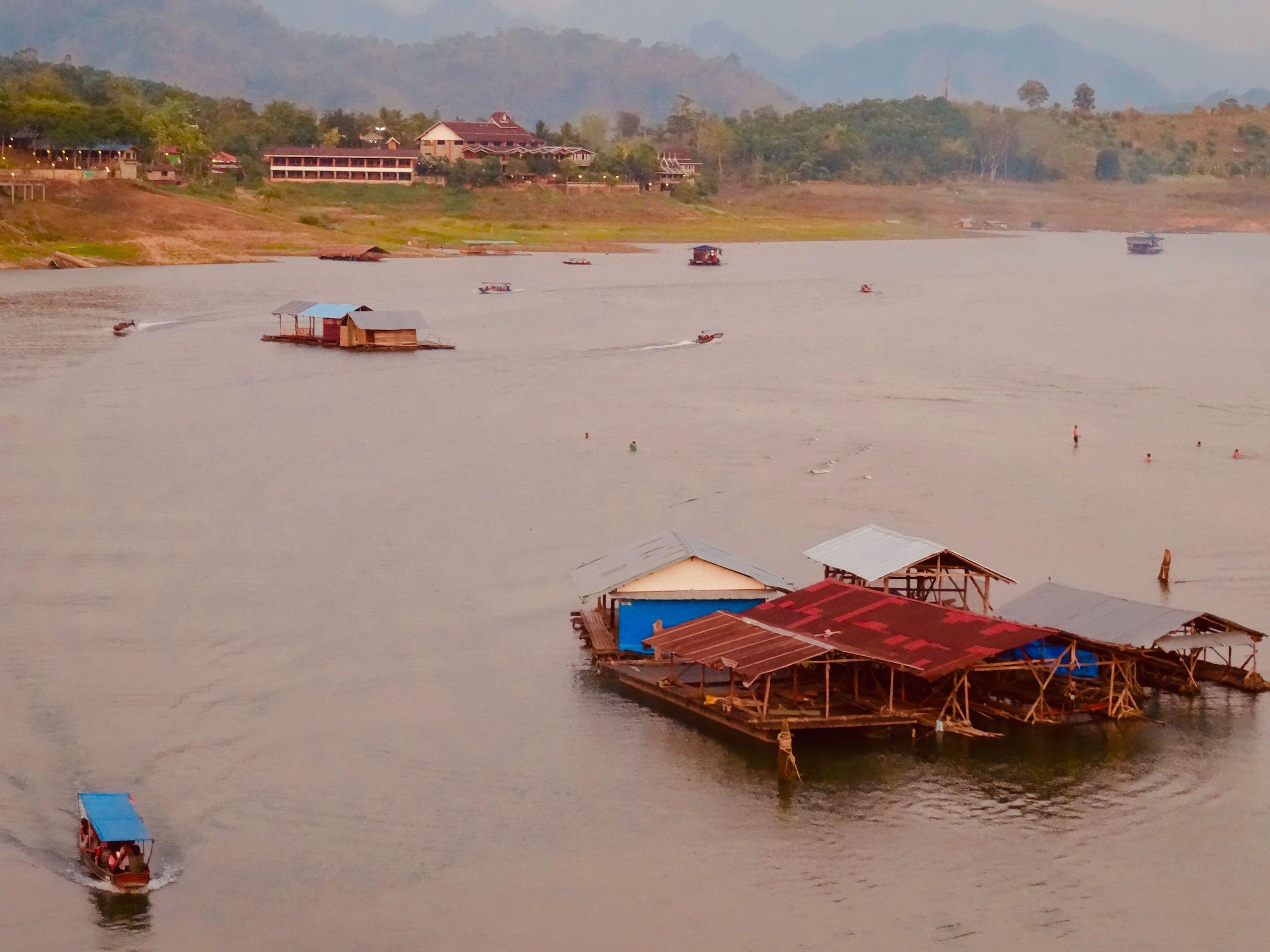 Khao Laem Reservoir in Sangkhlaburi Thailand