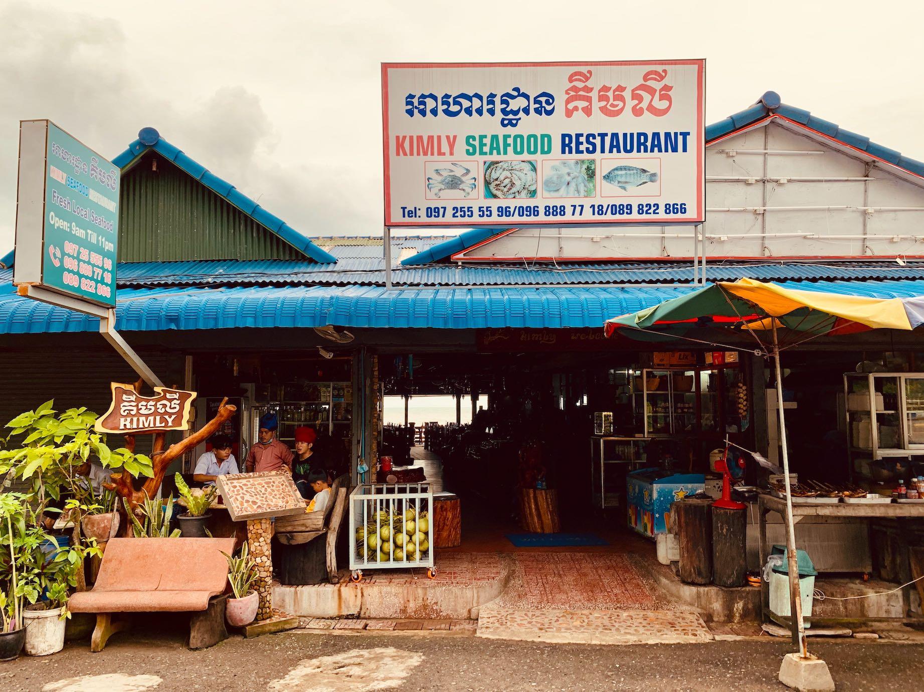 Kimly Seafood Restaurant Kep.
