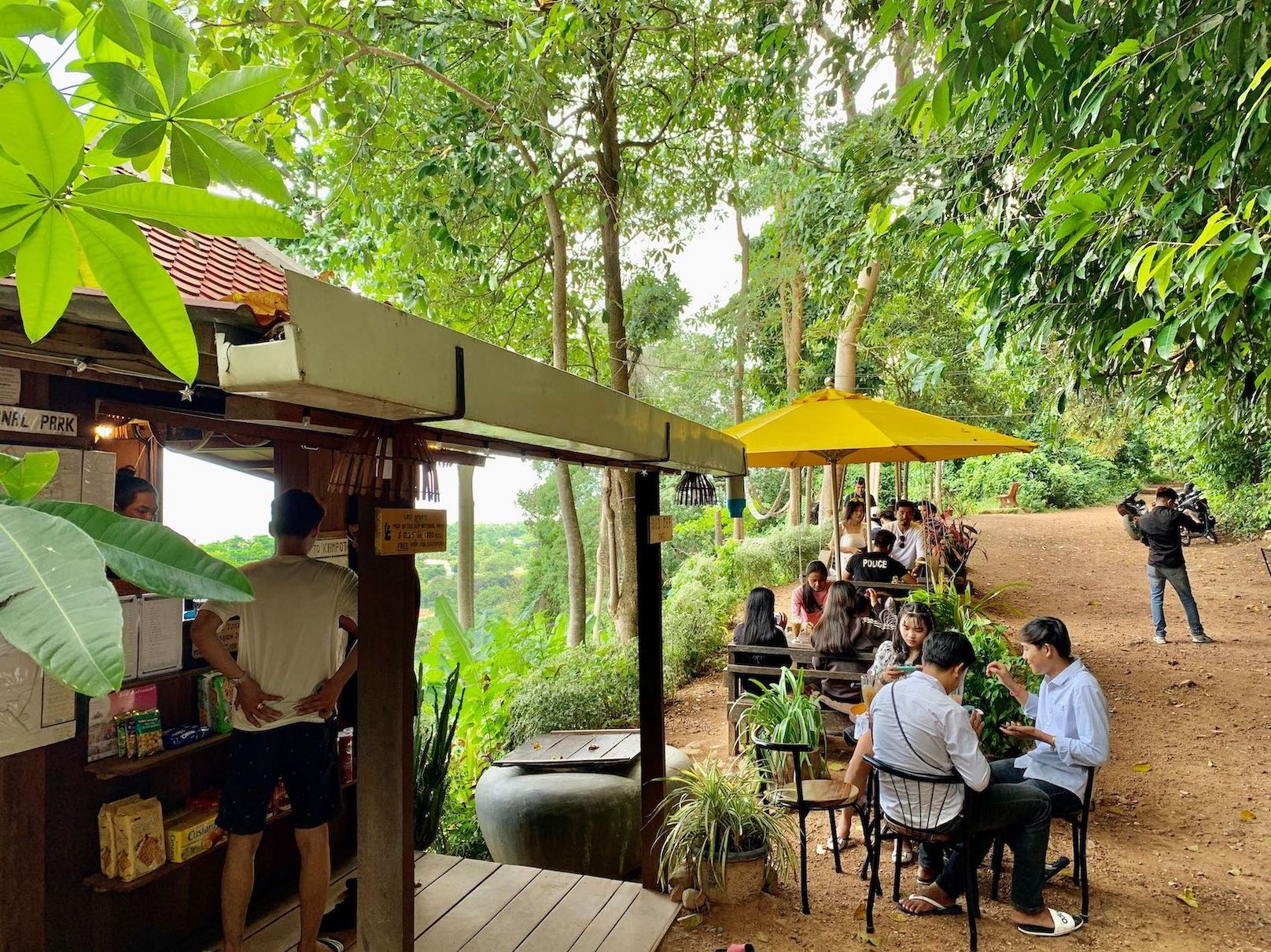 Led Zep Cafe Kep National Park.