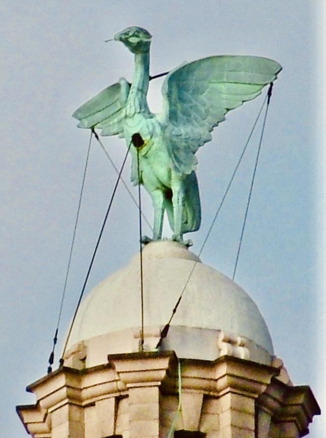 Liver bird sculpture Liverpool.