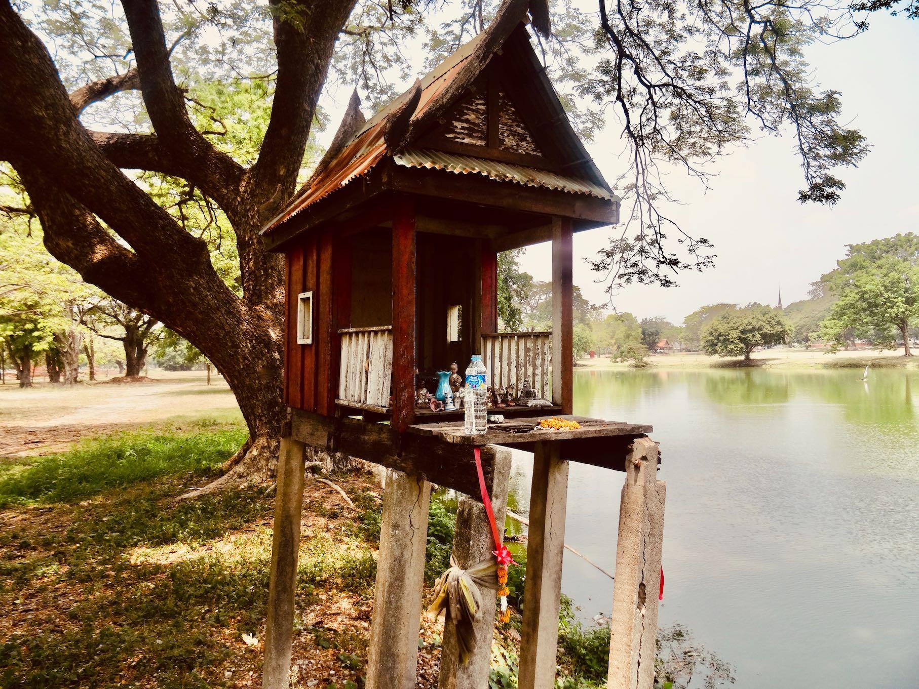Miniature Buddhas shrine Ayutthaya Thailand