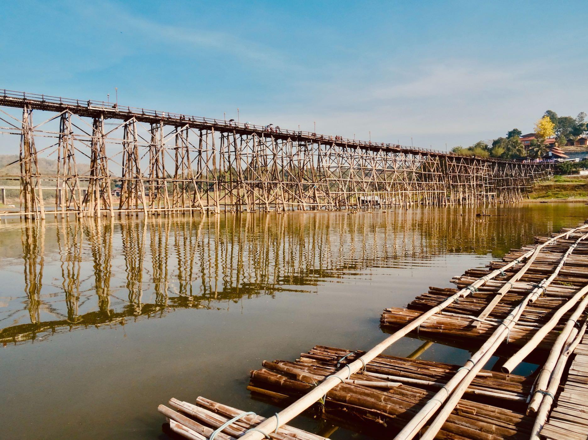 Mon Bridge Sangkhlaburi Thailand.