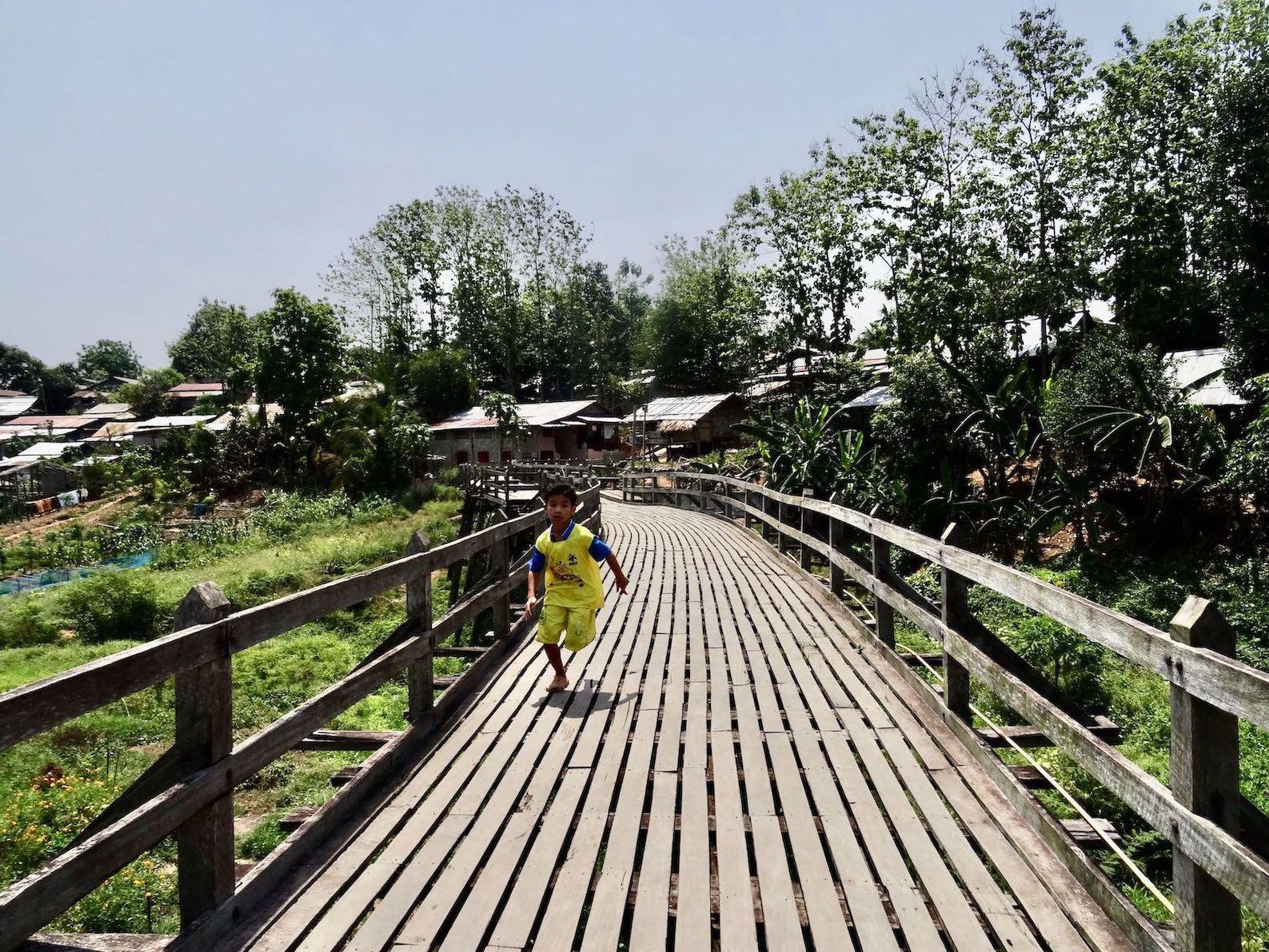 Mon village Sangkhlaburi Thailand.