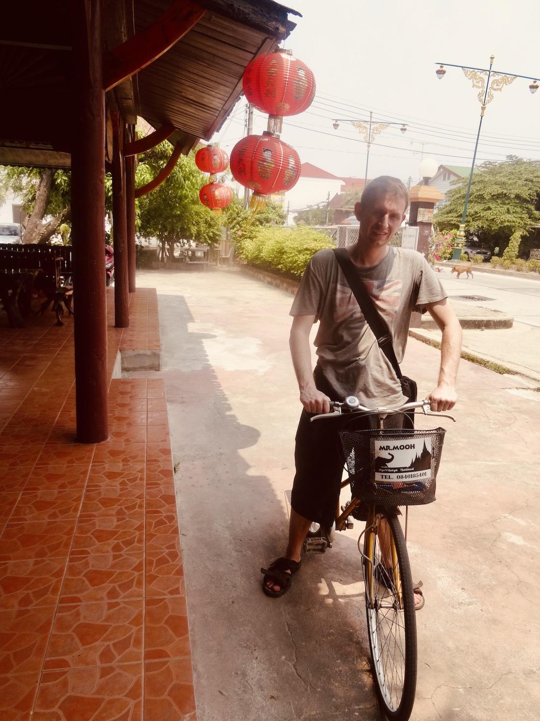 Mr Mooh Bike rental Ayutthaya Thailand