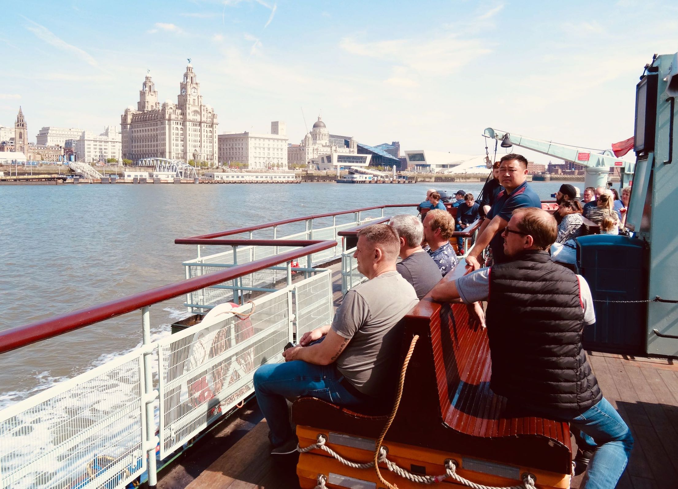 On the Ferry Cross the Mersey in Liverpool