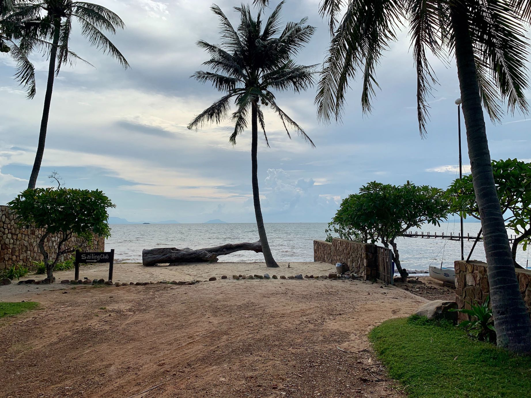 Overcast afternoon Kep Cambodia.