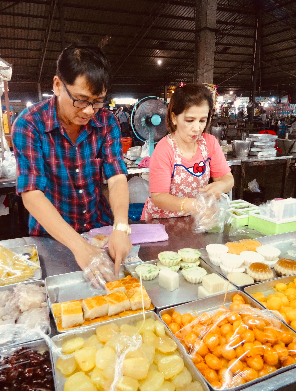 Phetchaburi Night Market Thailand.