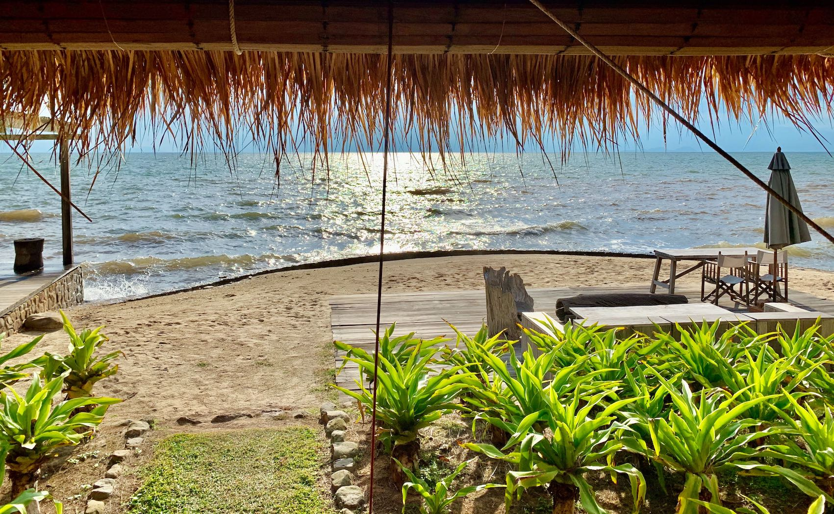 Private beach The Strand Restaurant in Kep