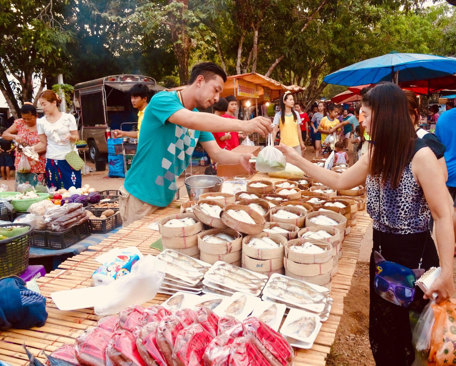 Sangkhlaburi Town Market.