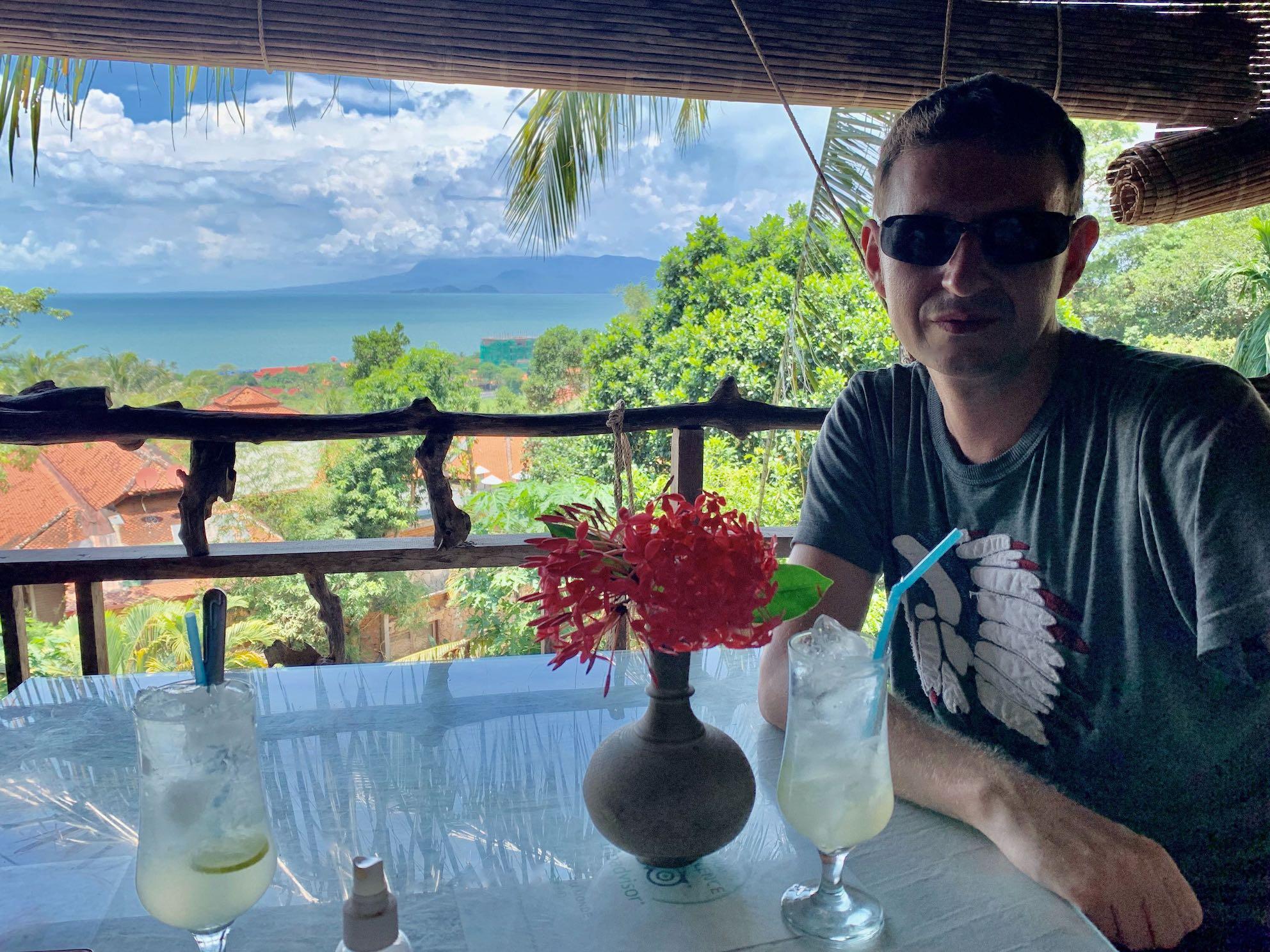 Sea views Kep Cambodia.