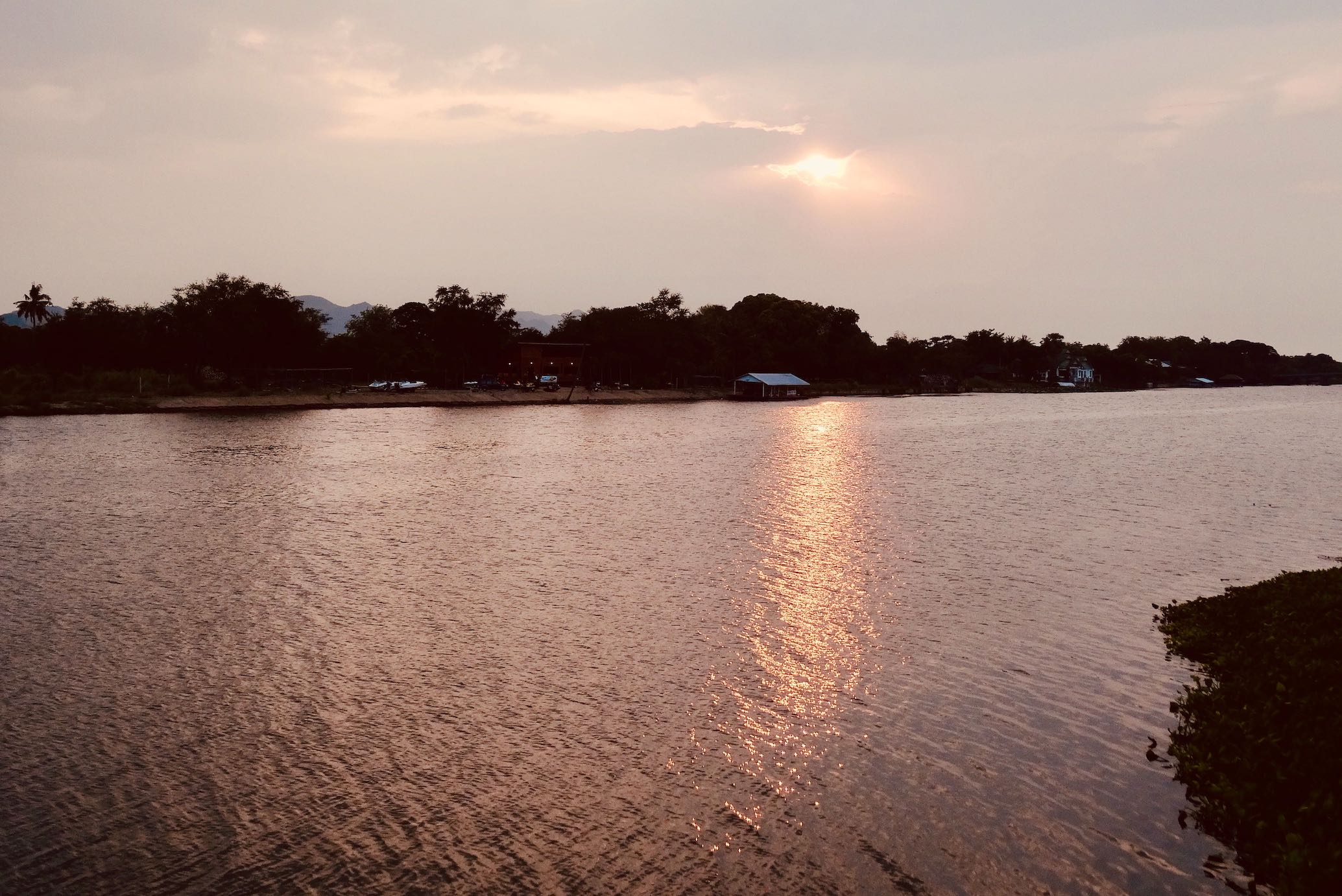 Sunset River Kwai Kanchanaburi.