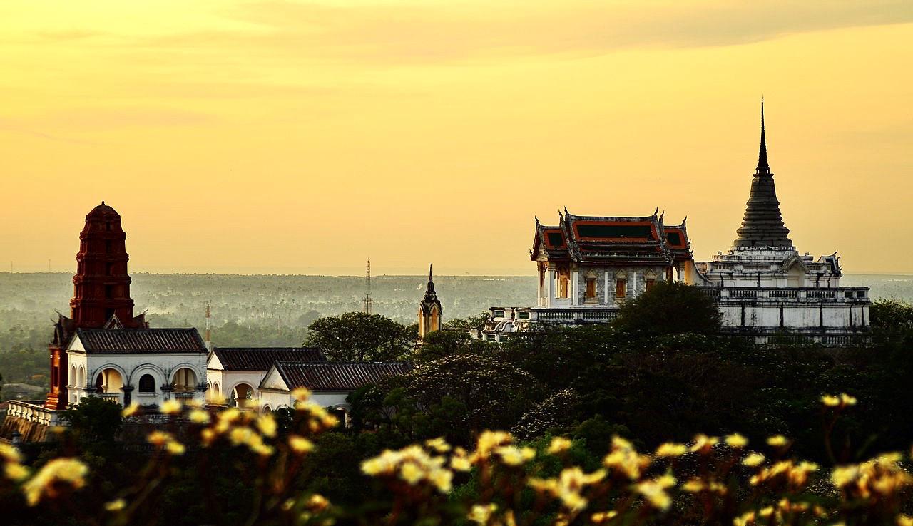 Sunset over Phetchaburi.
