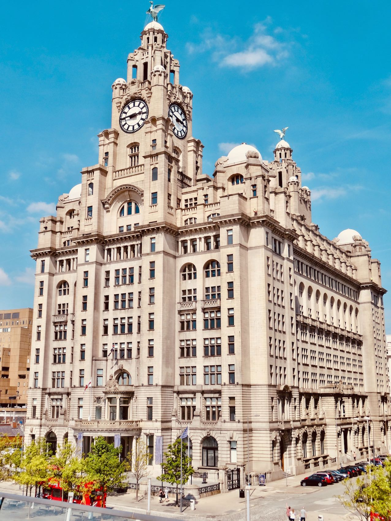 The Royal Liver Building in Liverpool.