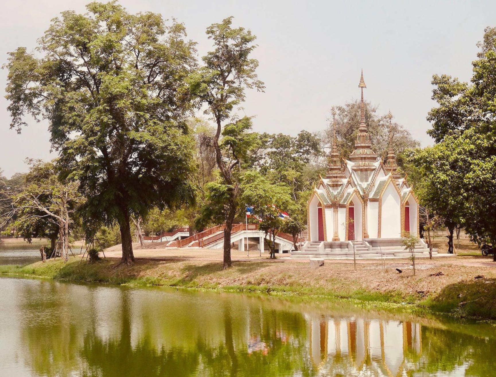 Tiny temple Ayutthaya Thailand.