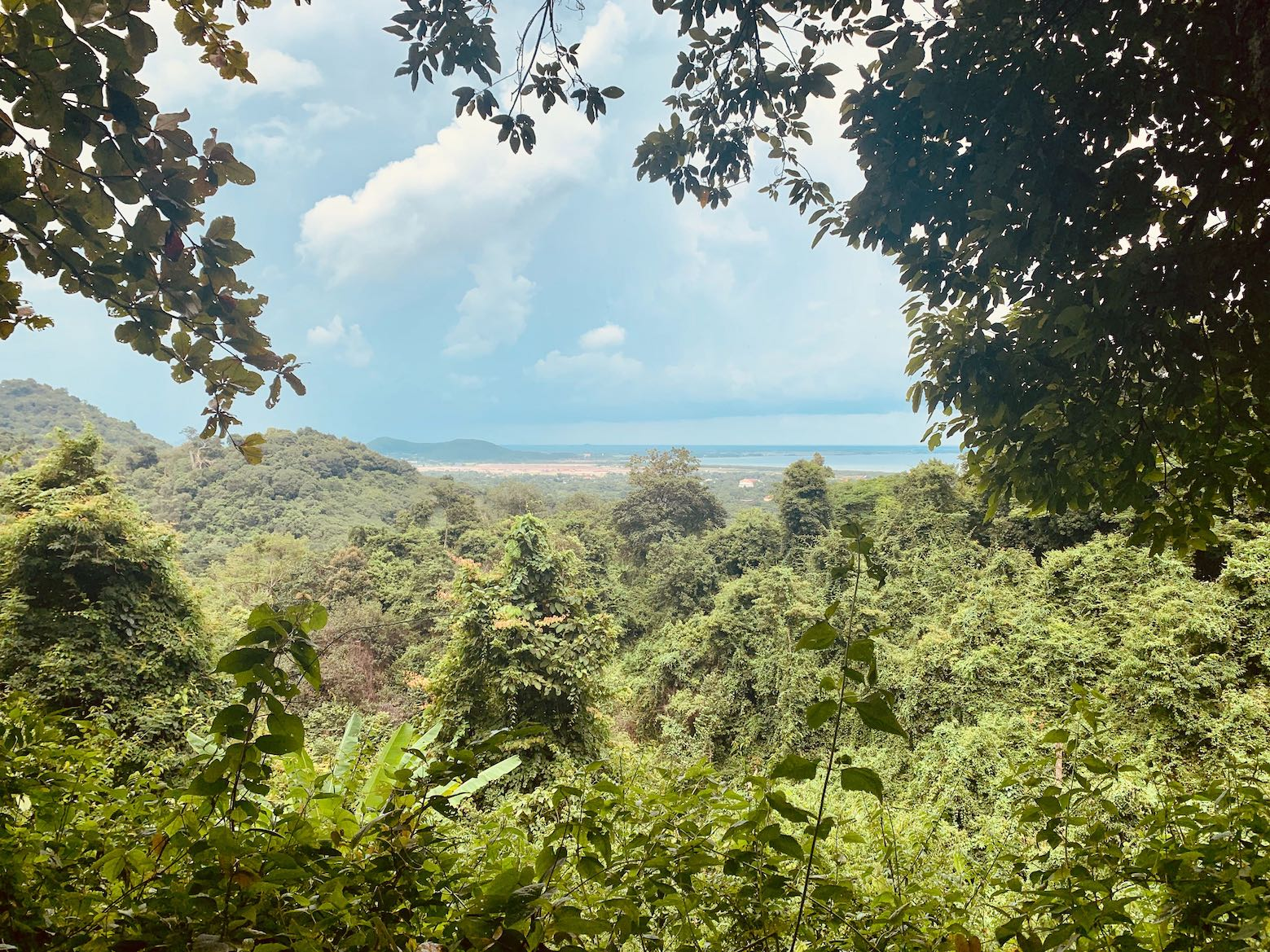 Views from the hiking trails of Kep National Park