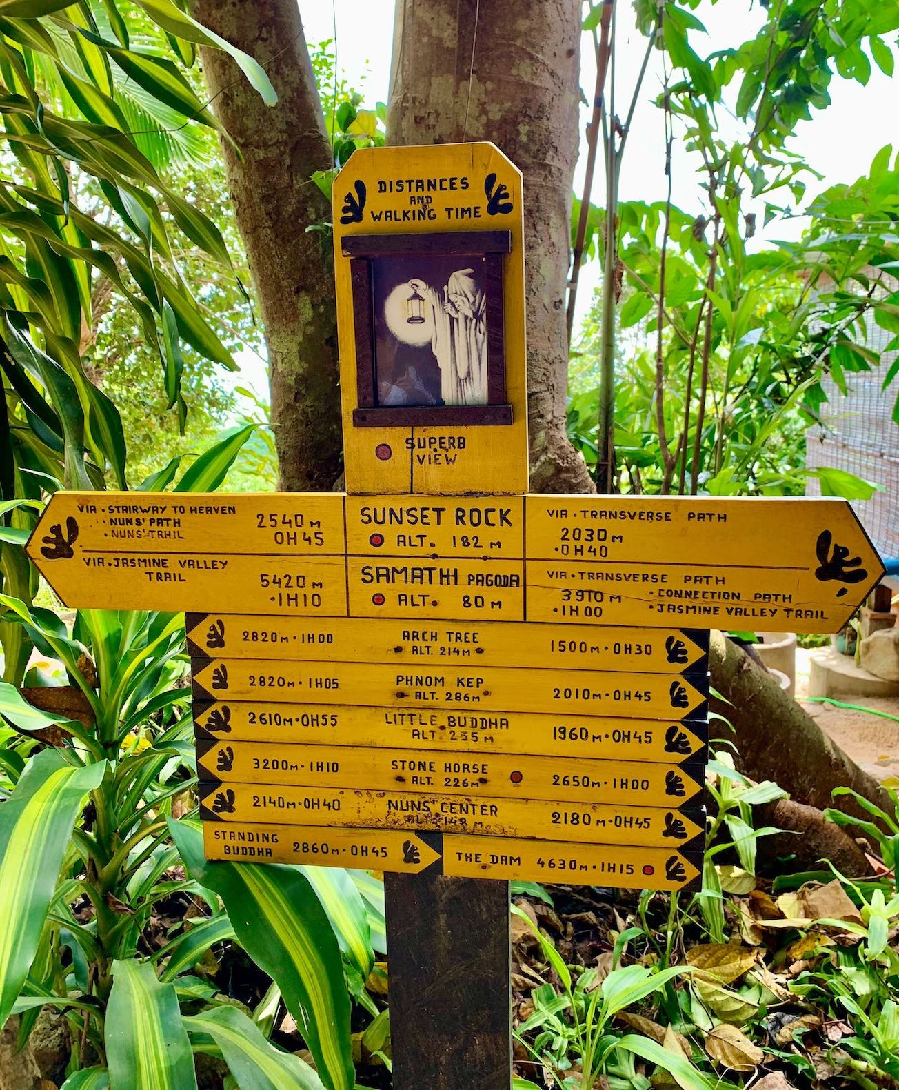 Walking trails Kep National Park.