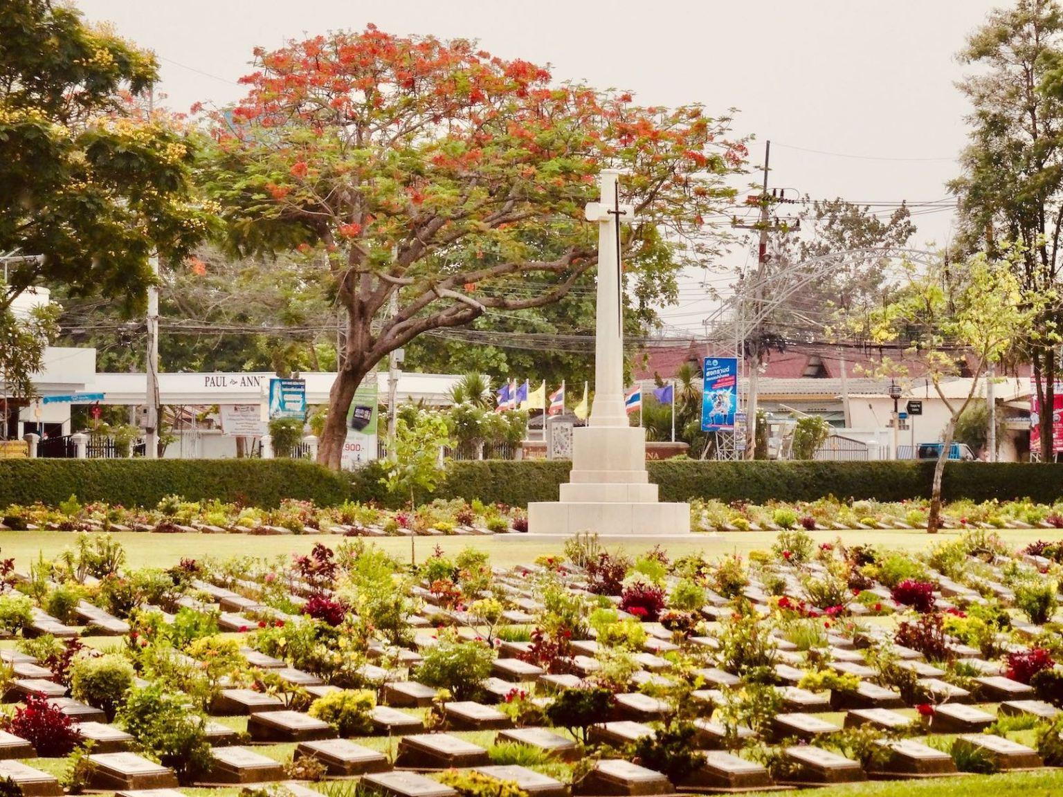 War memorial Kanchanaburi in Thailand