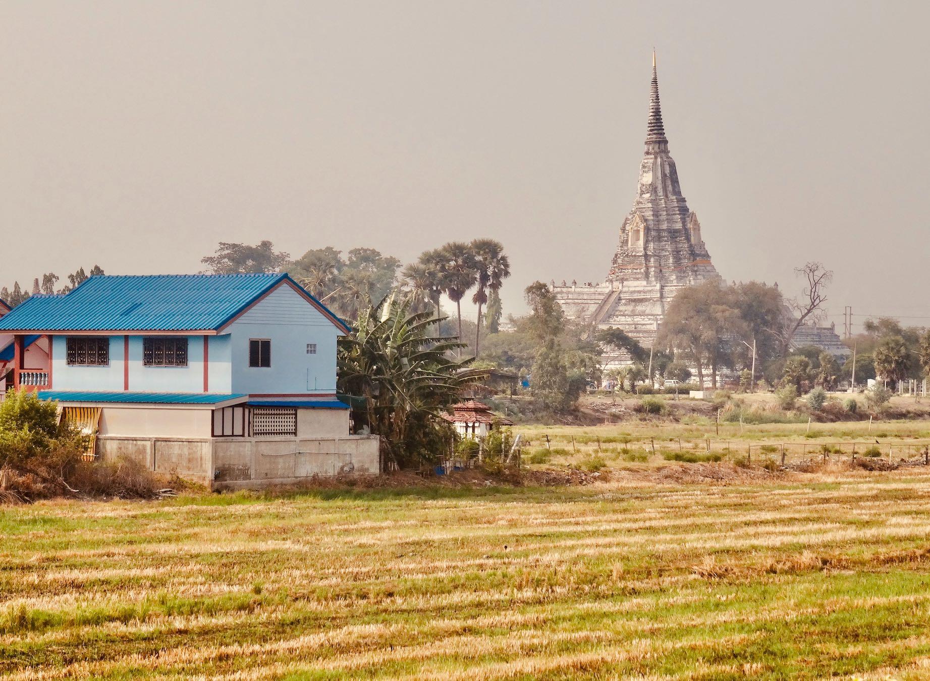 Wat Phu Khao Thong Ayutthaya.