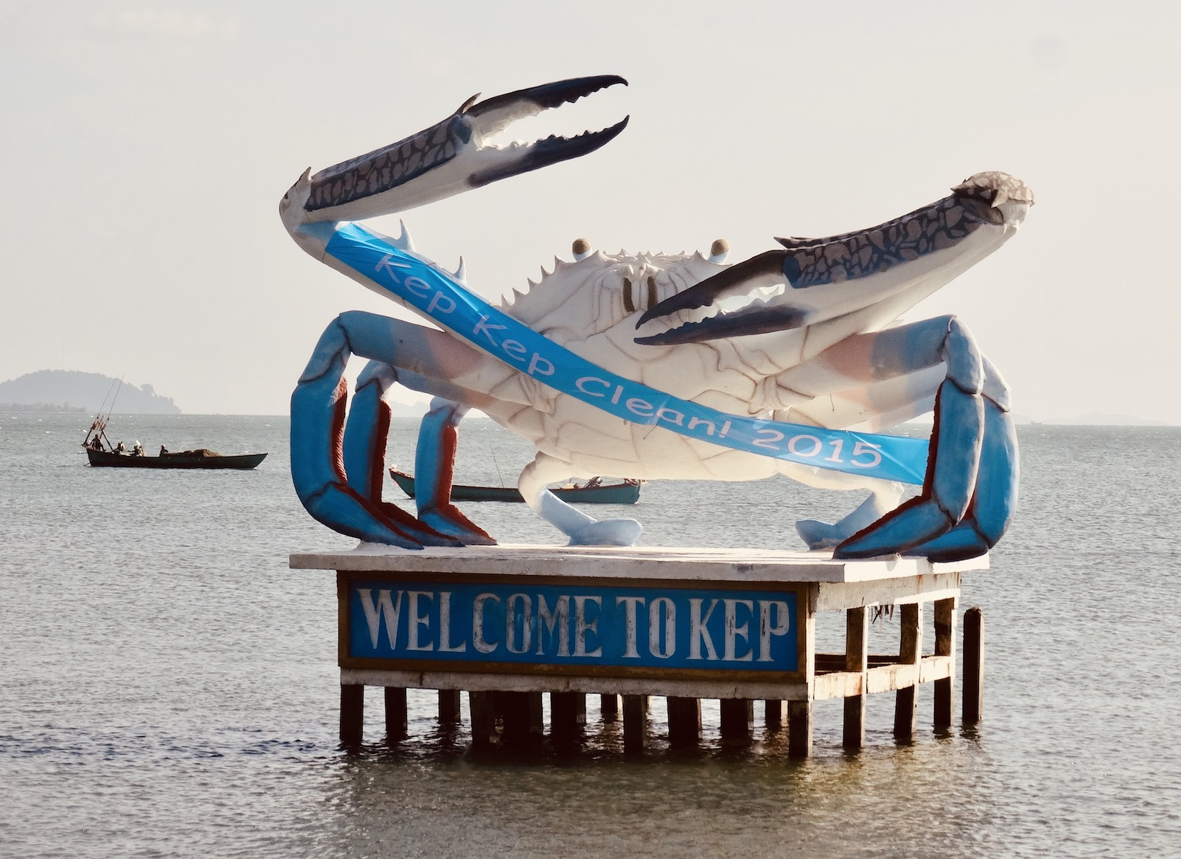 Welcome to Kep crab statue.