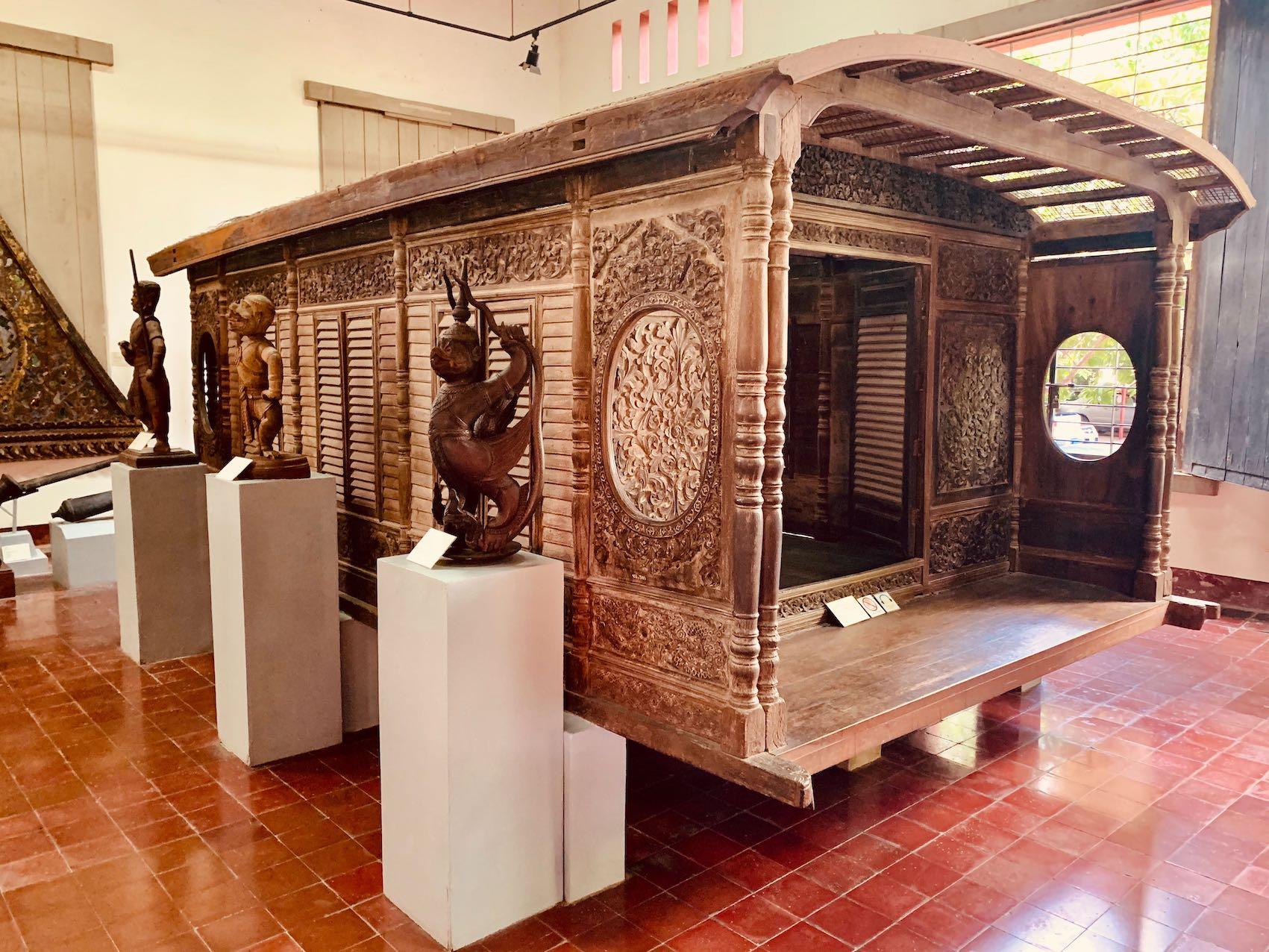 19th century Khmer boat cabin Cambodia
