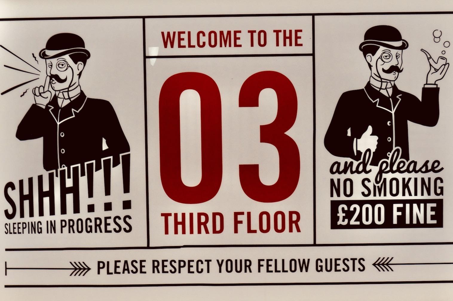 3rd floor Hatters Hostel Liverpool.
