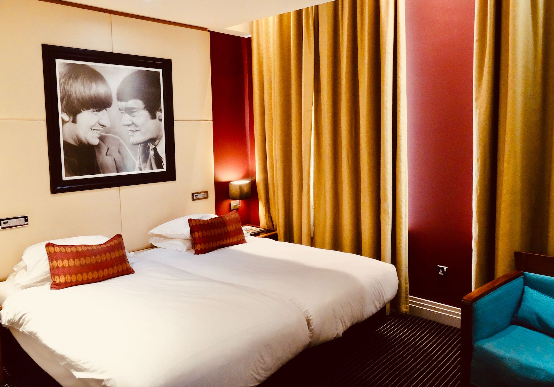 A double room at the Hard Days Night Hotel in Liverpool